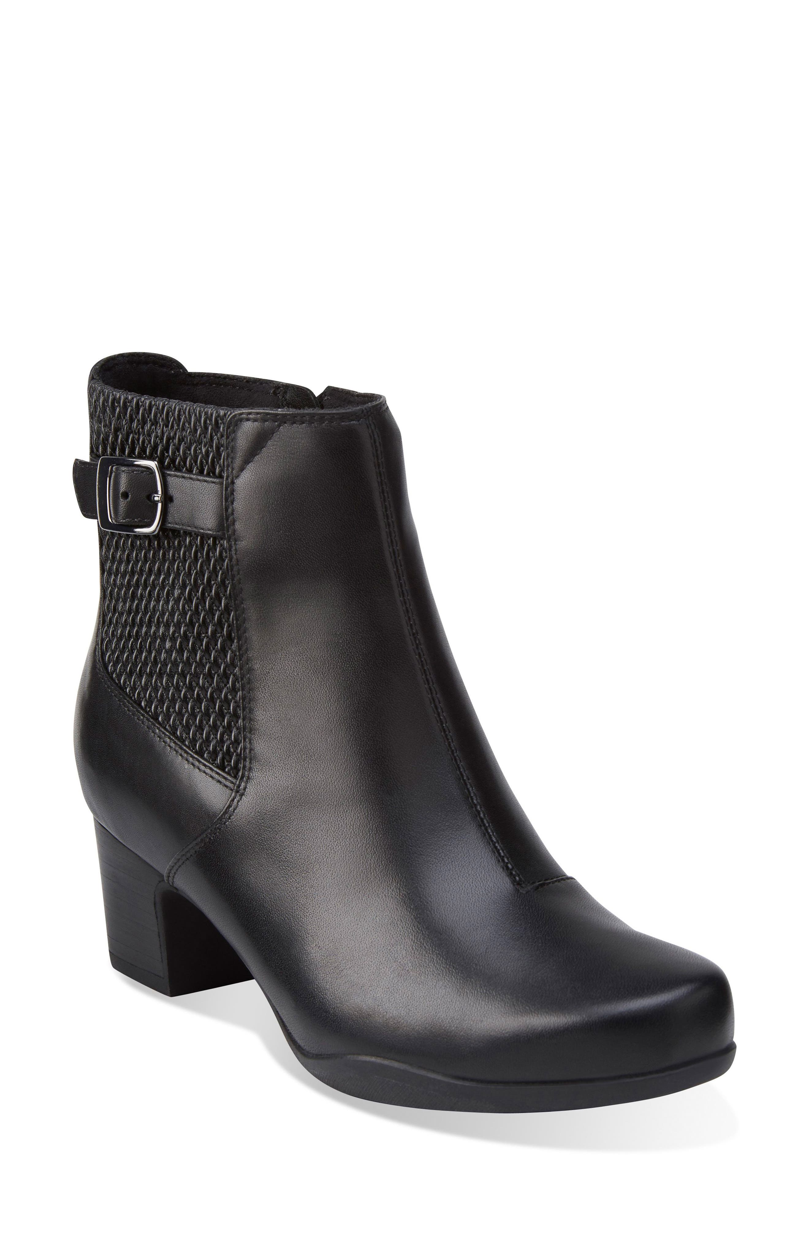 Rosalyn Lara Waterproof Boot,                         Main,                         color, Black Leather