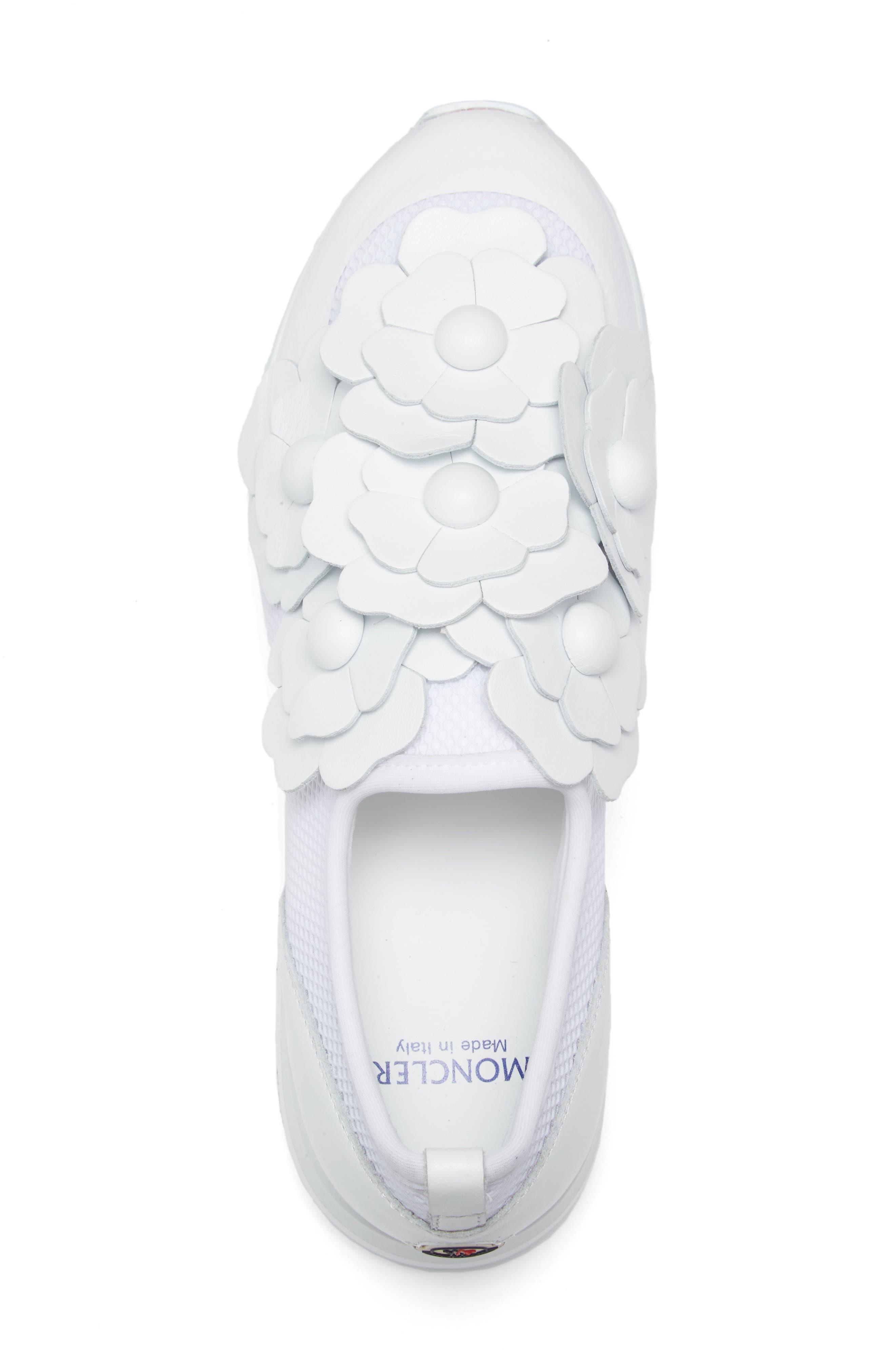 Emy Roseline Slip-On Sneaker,                             Alternate thumbnail 3, color,                             White Leather
