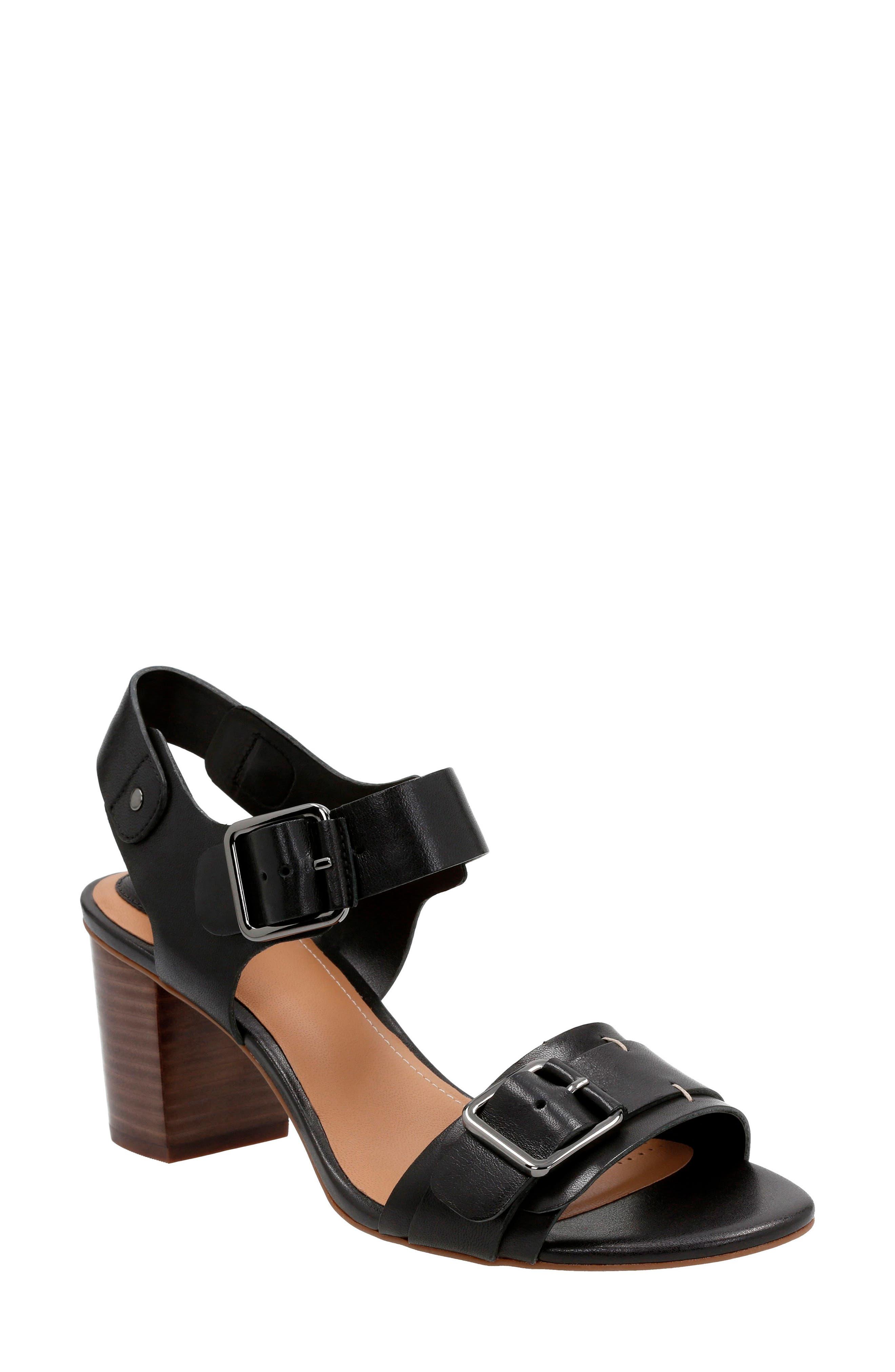 Ralene Dazzle Sandal,                         Main,                         color, Black Leather