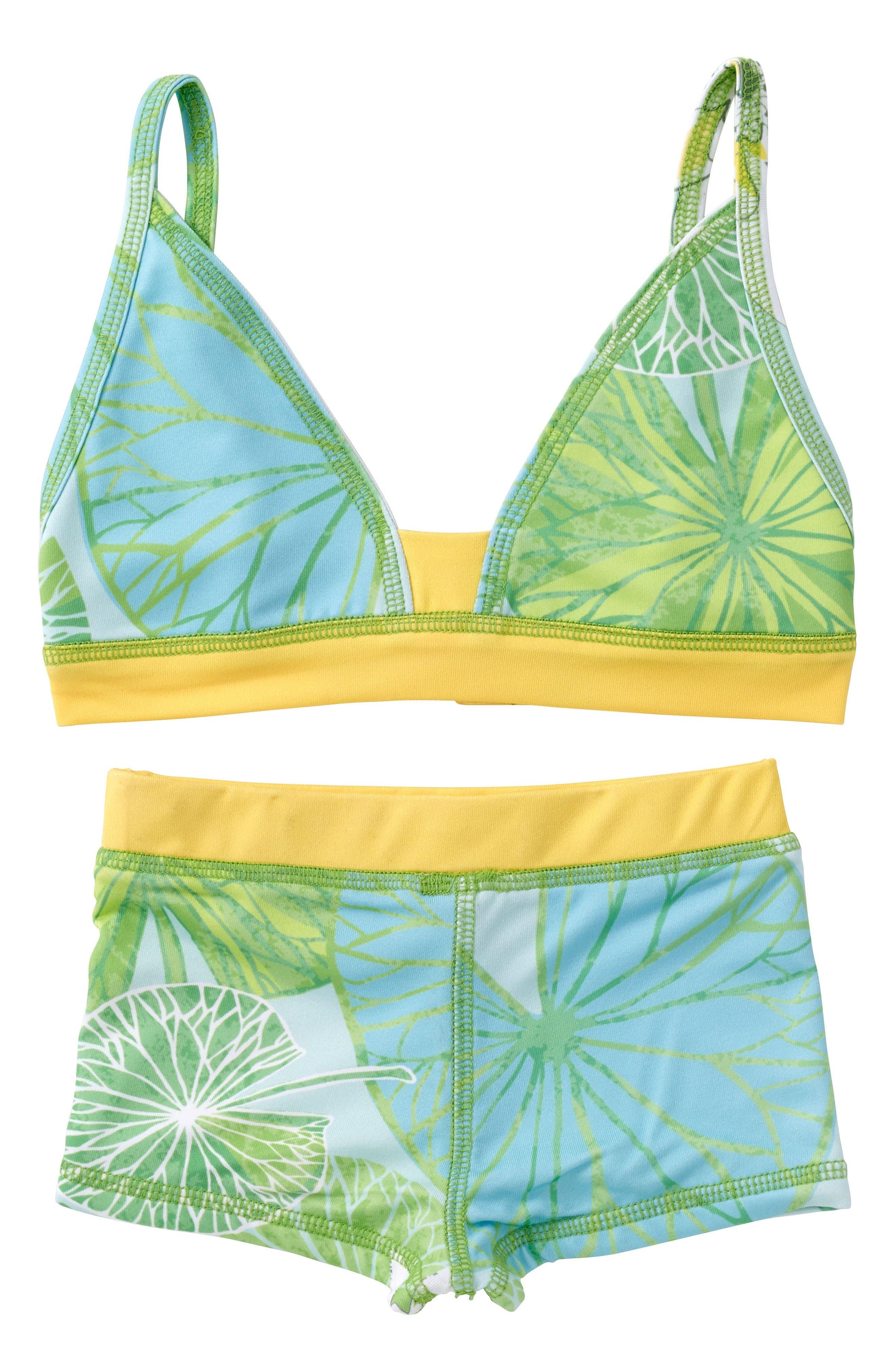 Main Image - Masasla Baby Two-Piece Swimsuit (Toddler Girls, Little Girls & Big Girls)