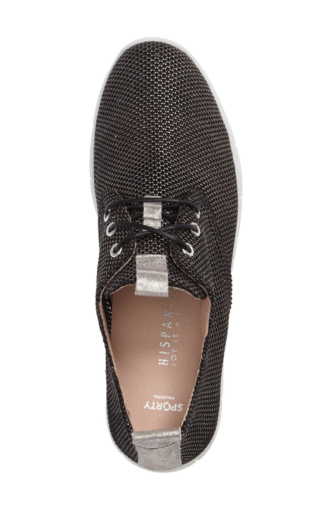 Gala Perforated Sneaker,                             Alternate thumbnail 3, color,                             Bionic Black Leather