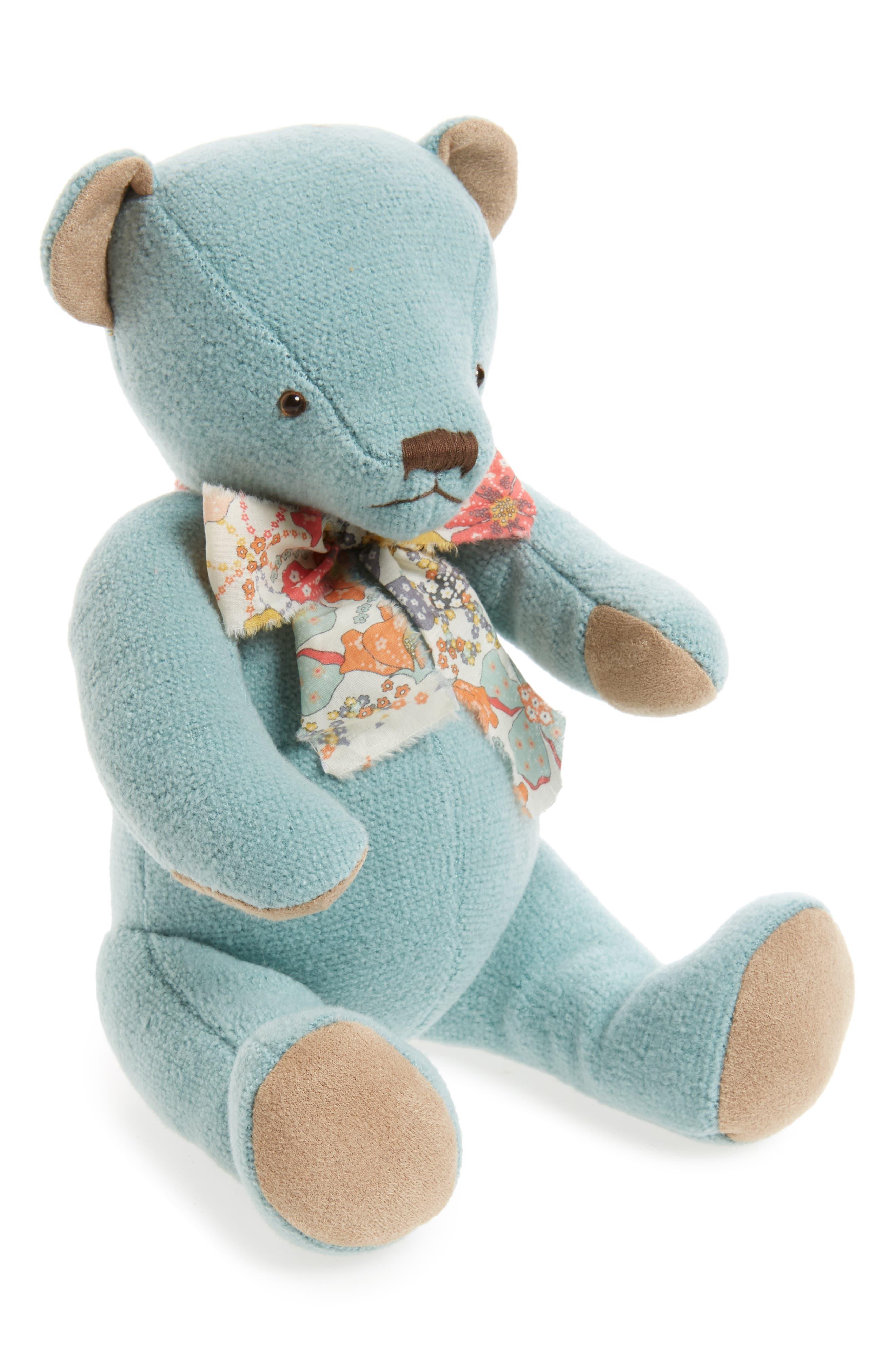 Teddy Bear Stuffed Animal,                         Main,                         color, Blue