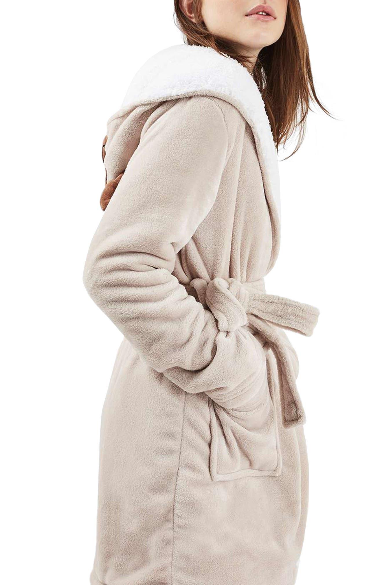 Alternate Image 3  - Topshop Pug Hood Robe