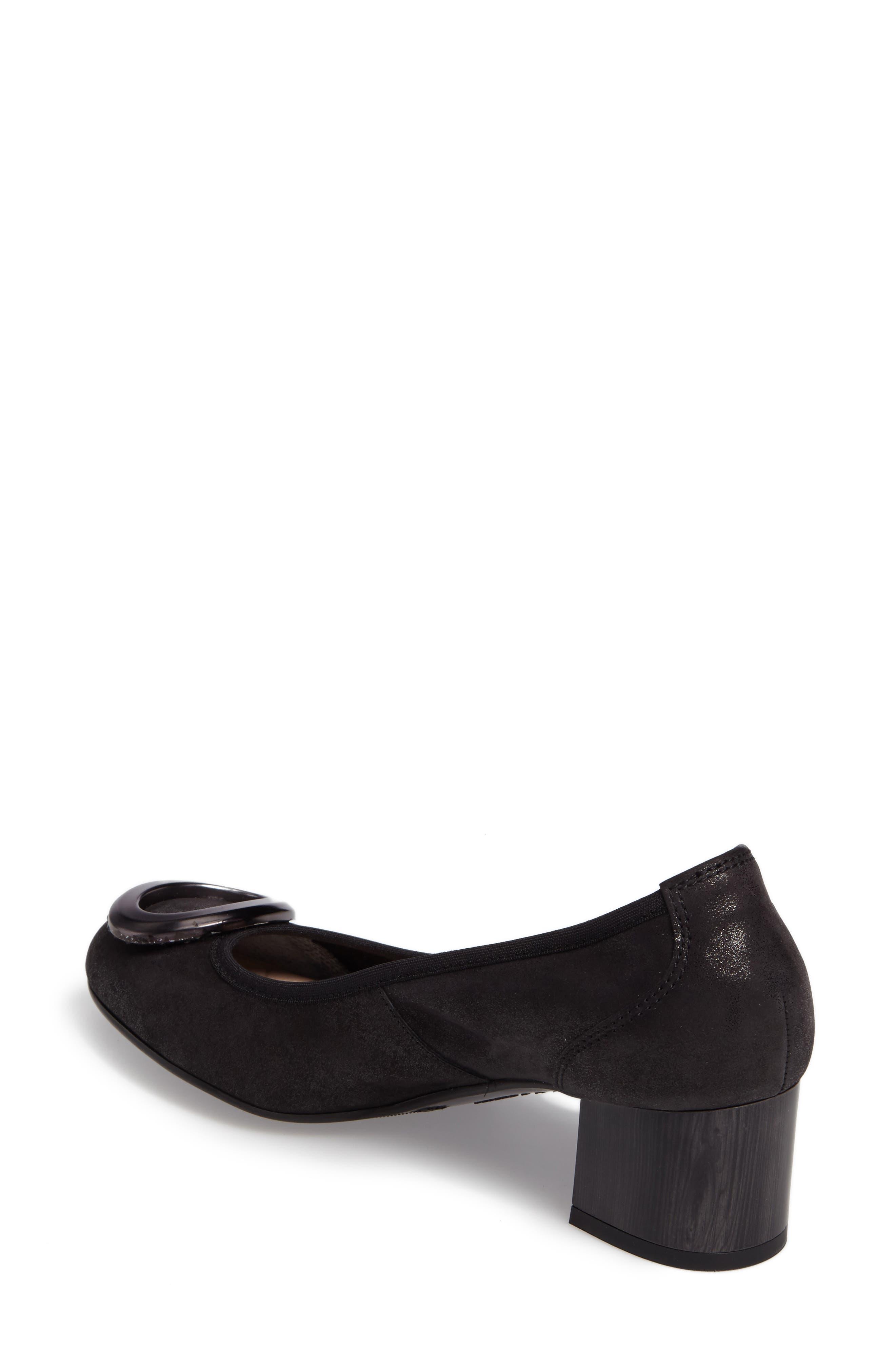 Jayla Brooch Toe Pump,                             Alternate thumbnail 2, color,                             Magic Black Leather