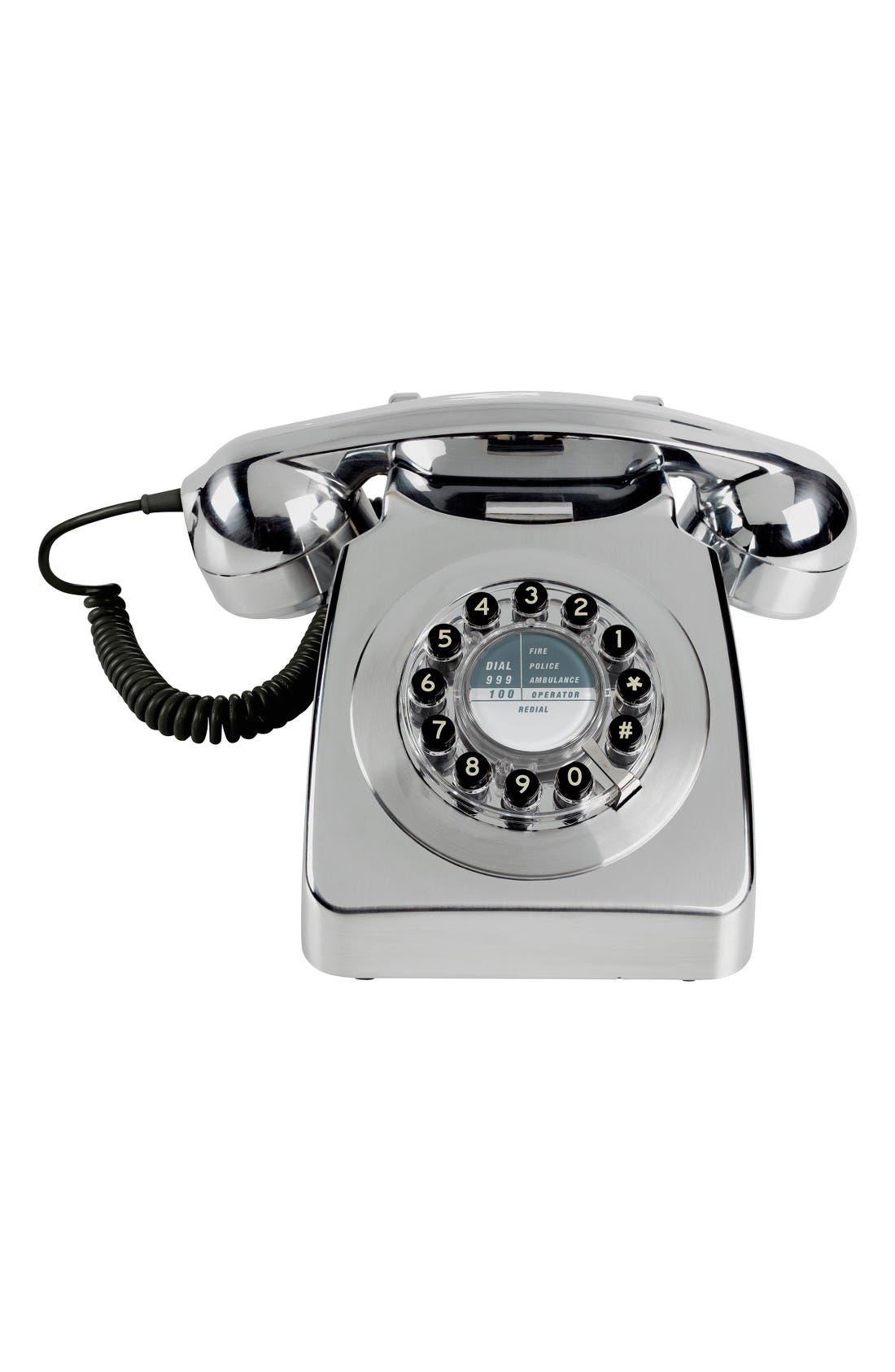 Metallic Phone,                         Main,                         color, Chrome