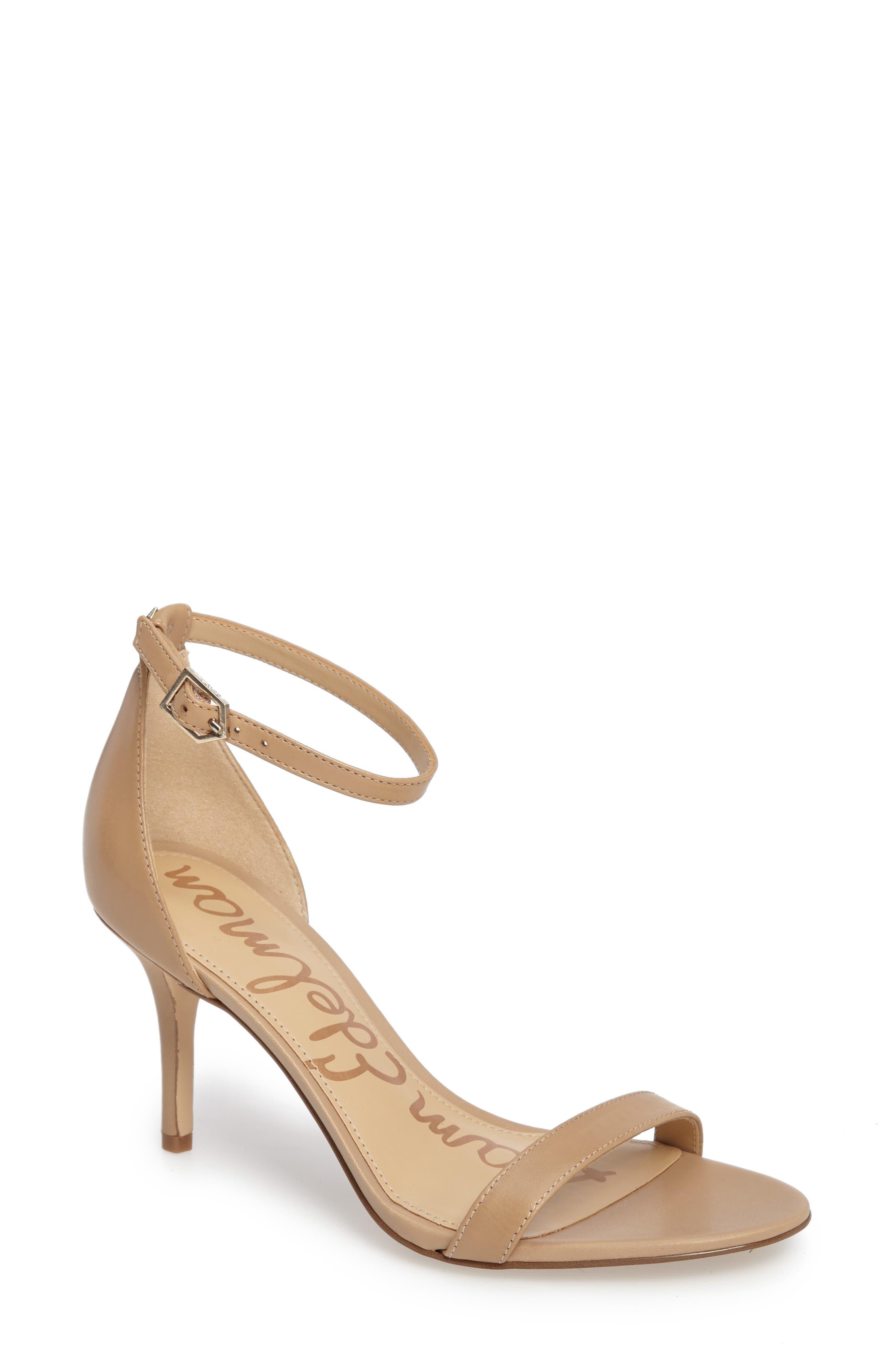 Patti Strappy Sandal,                             Main thumbnail 1, color,                             Classic Nude Leather