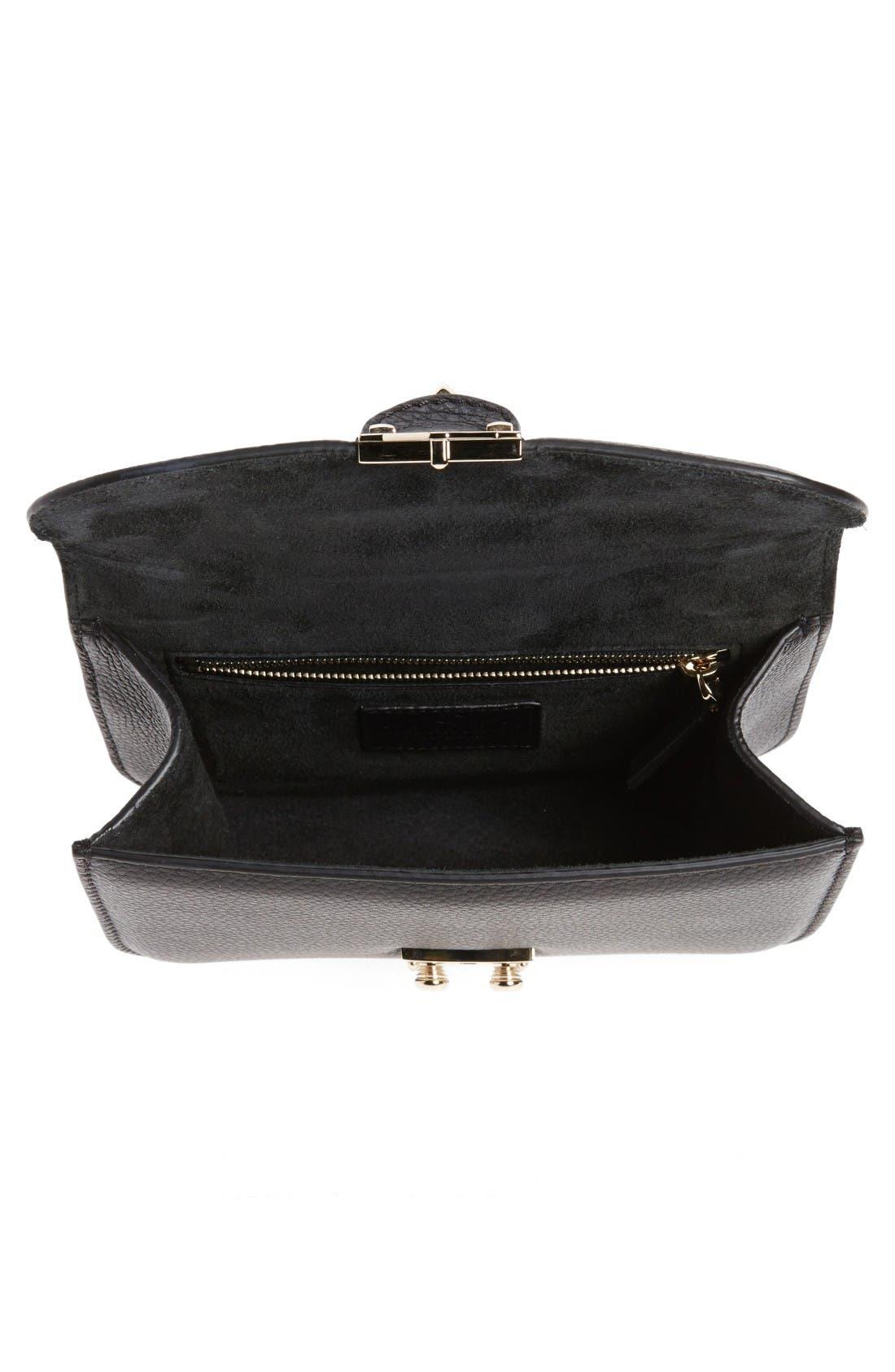 Alternate Image 4  - VALENTINO GARAVANI Rockstud - Small Lock Leather Crossbody Bag