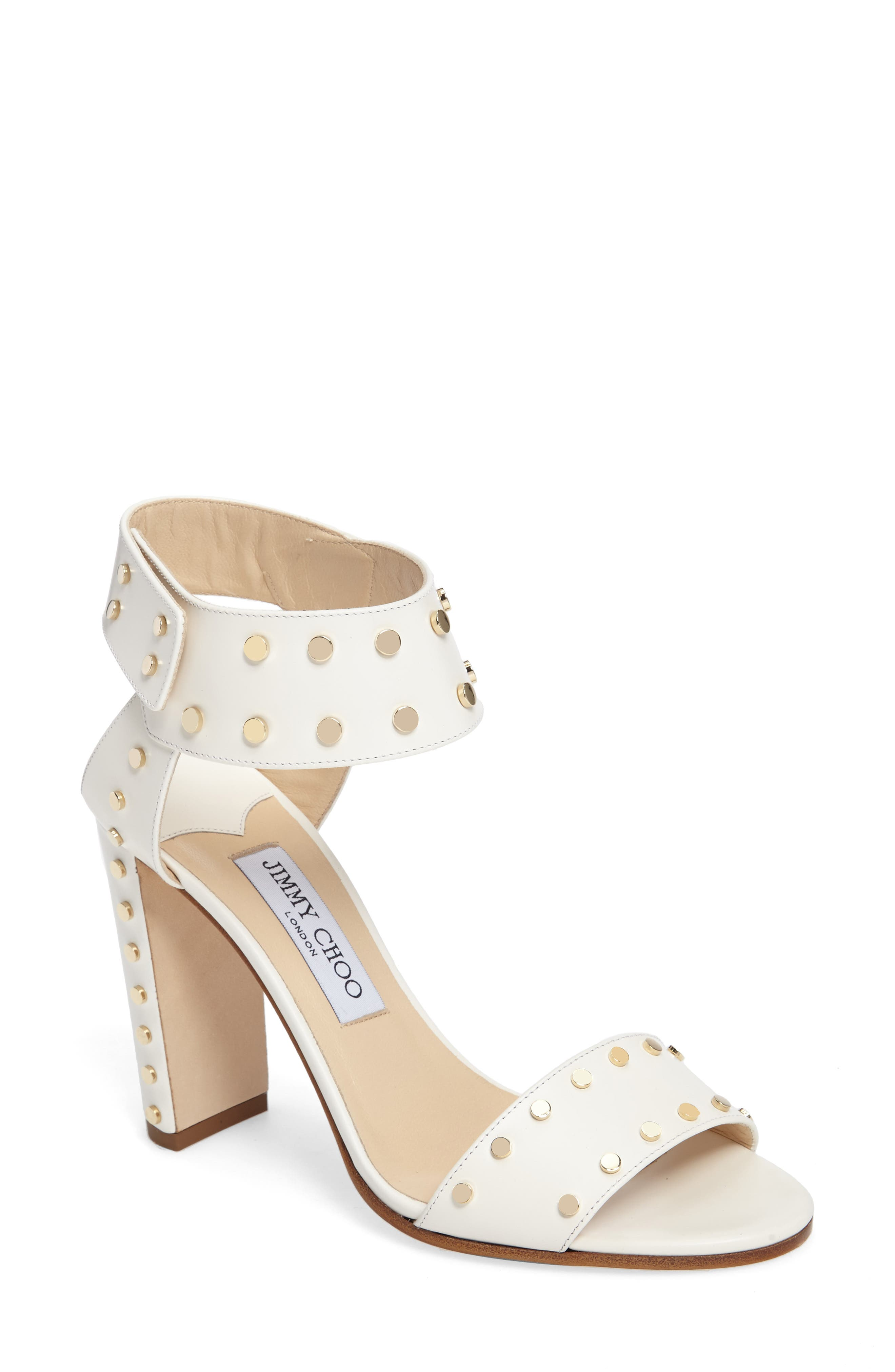 Alternate Image 1 Selected - Jimmy Choo Veto Studded Ankle Cuff Sandal (Women)
