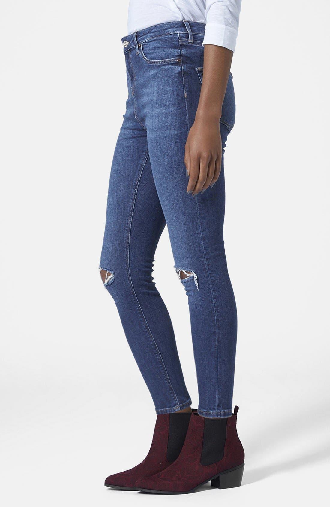 Alternate Image 1 Selected - Topshop Moto 'Jamie' High Rise Skinny Jeans (Petite)