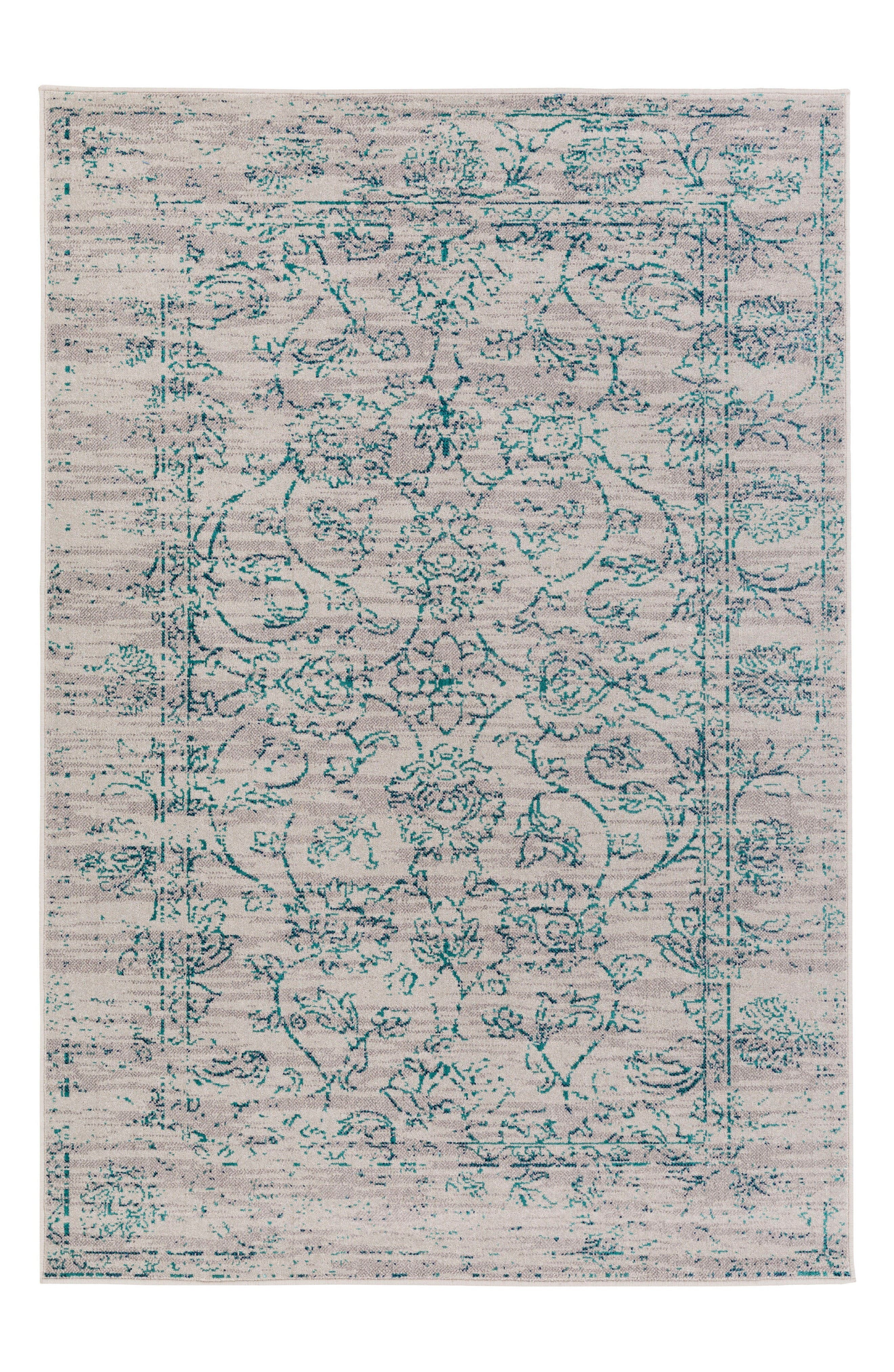 Stretto Classic Rug,                             Main thumbnail 1, color,                             Grey/ Teal