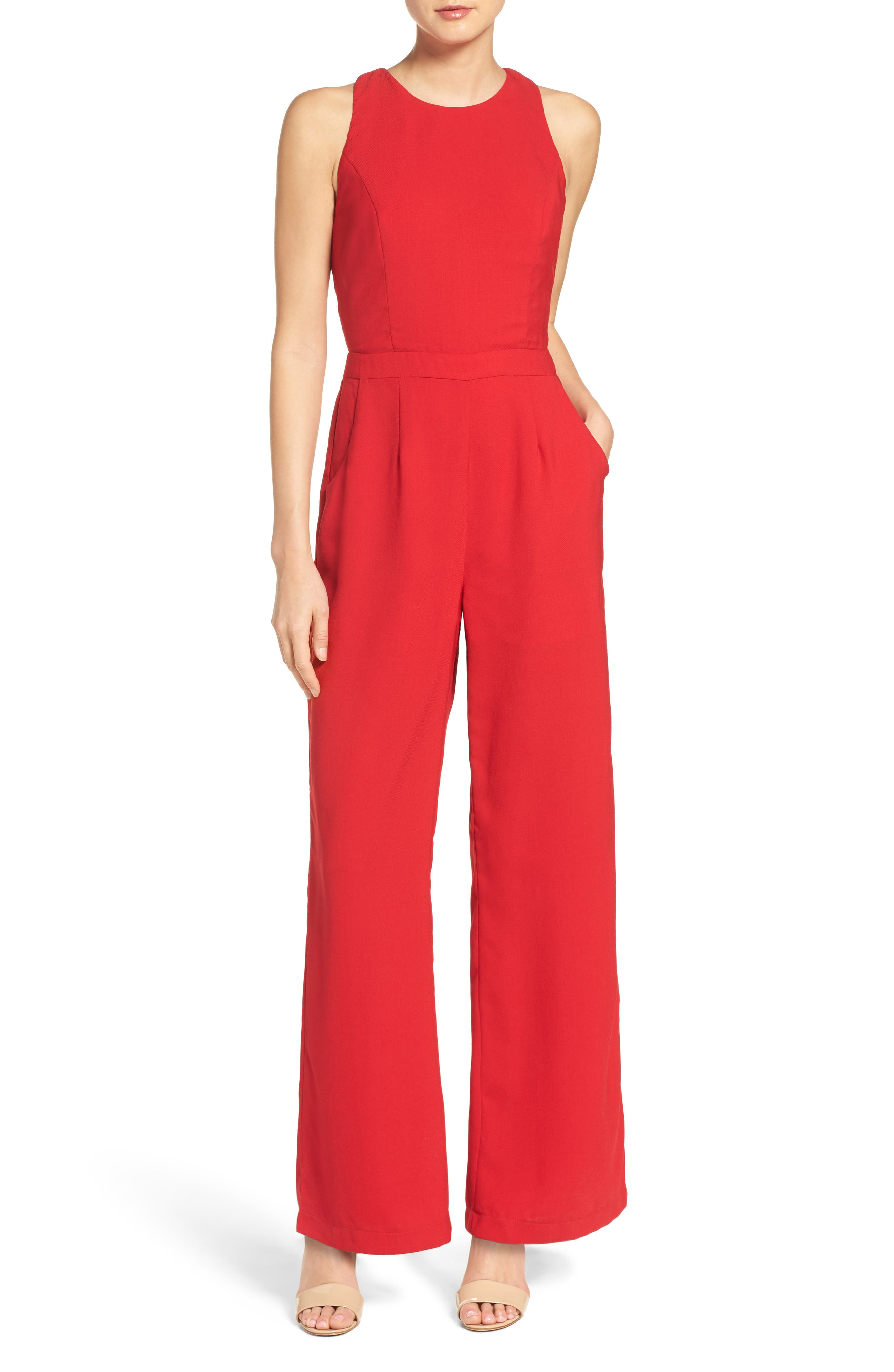 Alternate Image 1 Selected - Adelyn Rae Wide Leg Jumpsuit