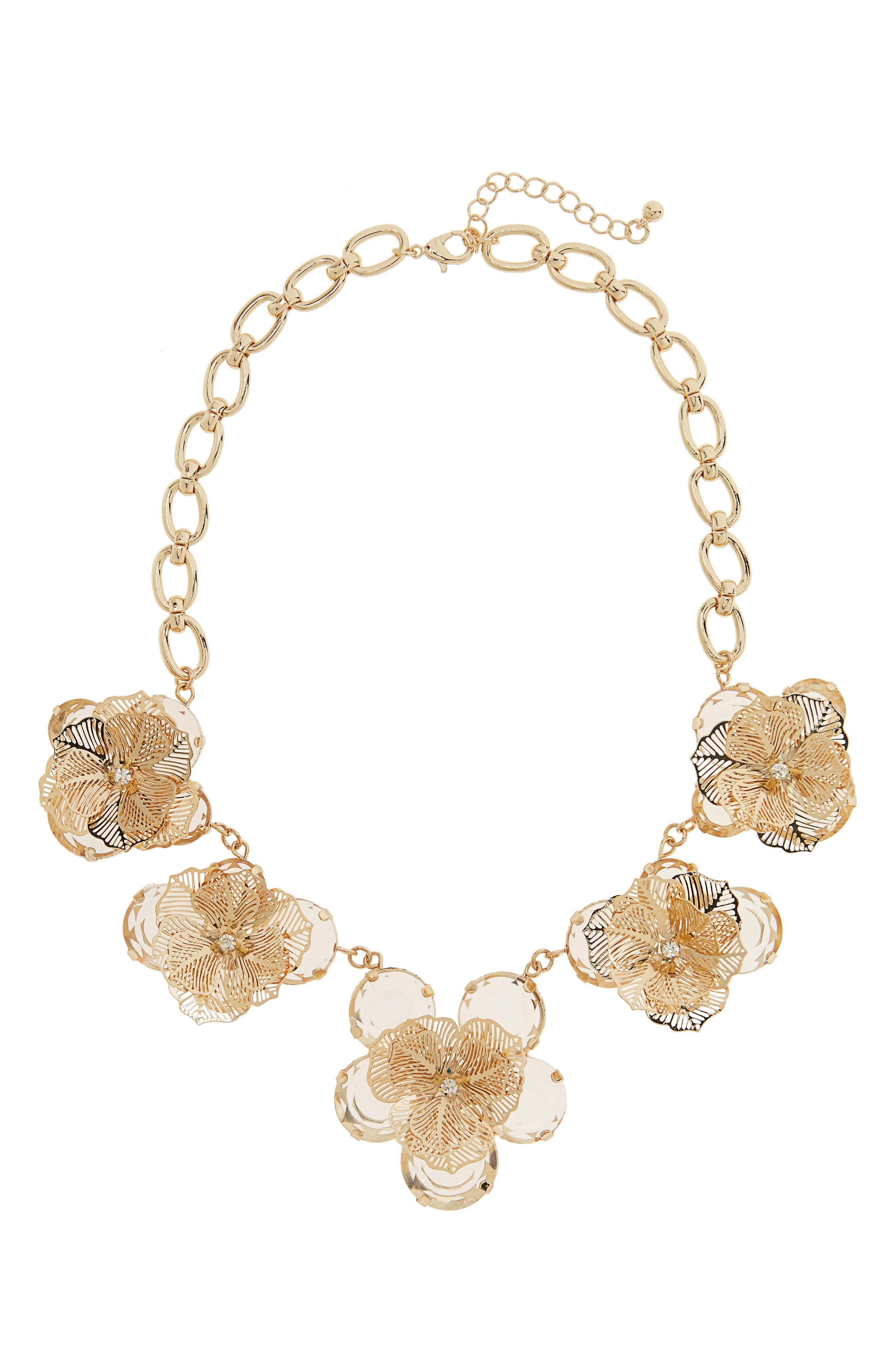 Main Image - Leith Floral Statement Necklace