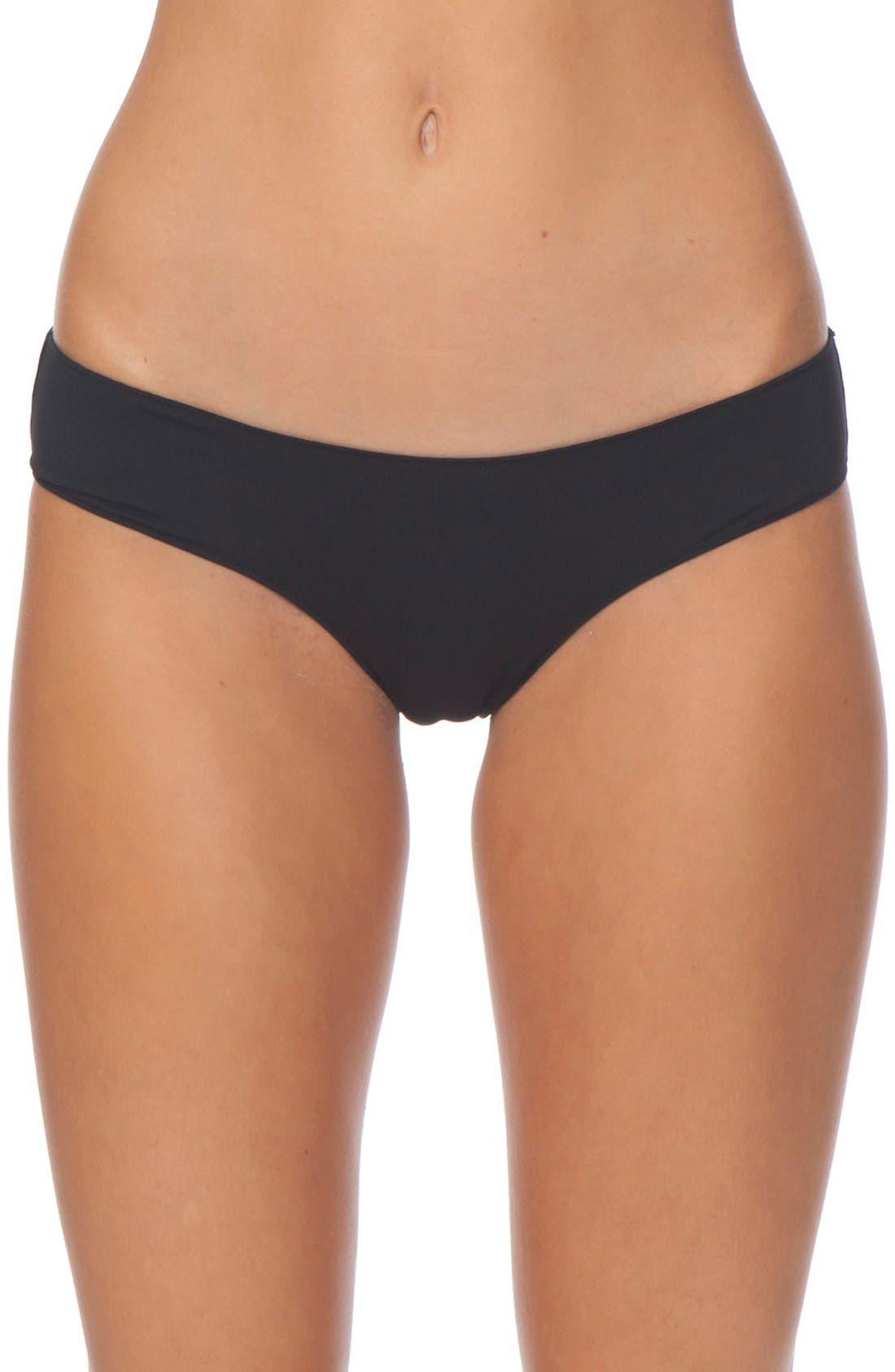 Classic Surf Hipster Bikini Bottoms,                         Main,                         color, Black