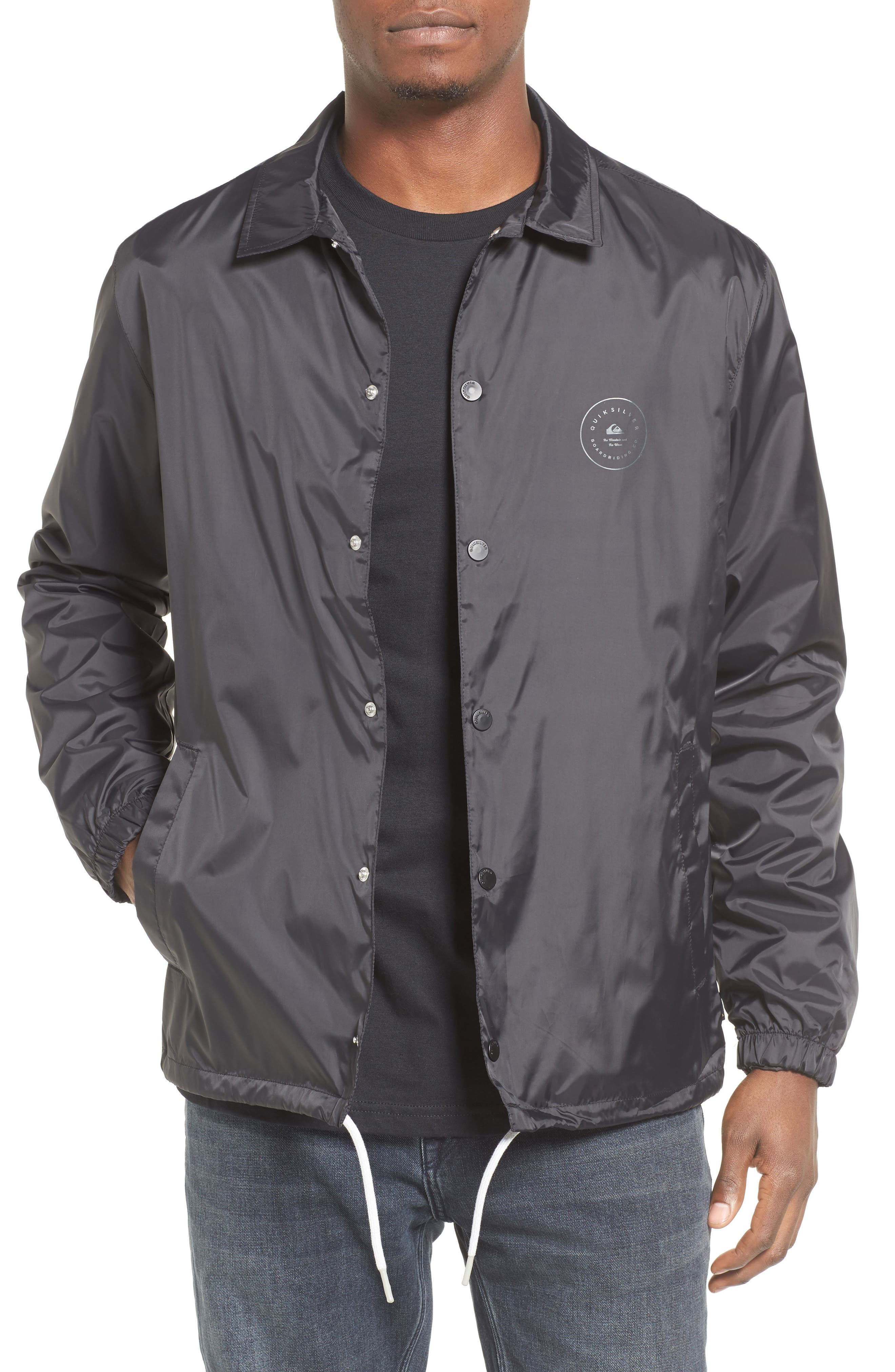 Always Surfing Coach's Jacket,                             Main thumbnail 1, color,                             Black