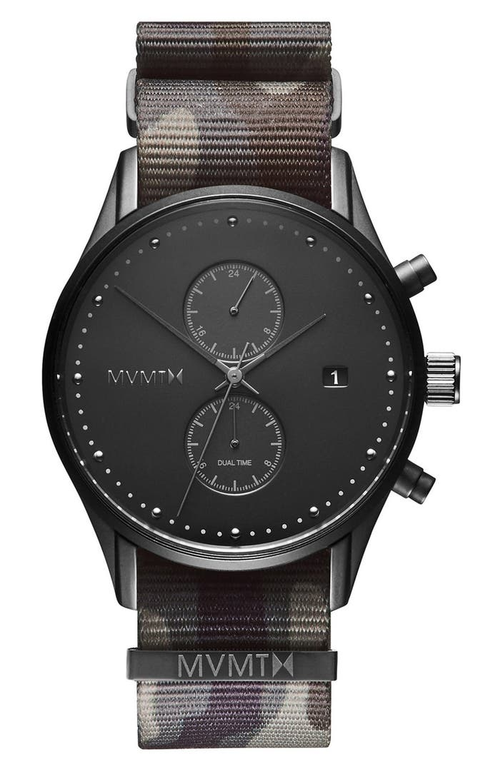 Mvmt voyager chronograph nato strap watch 42mm nordstrom for Mvmt watches
