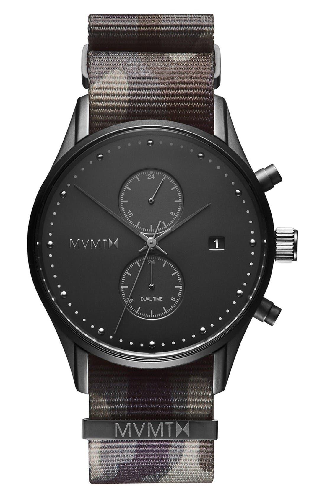MVMT Voyager Chronograph NATO Strap Watch, 42mm