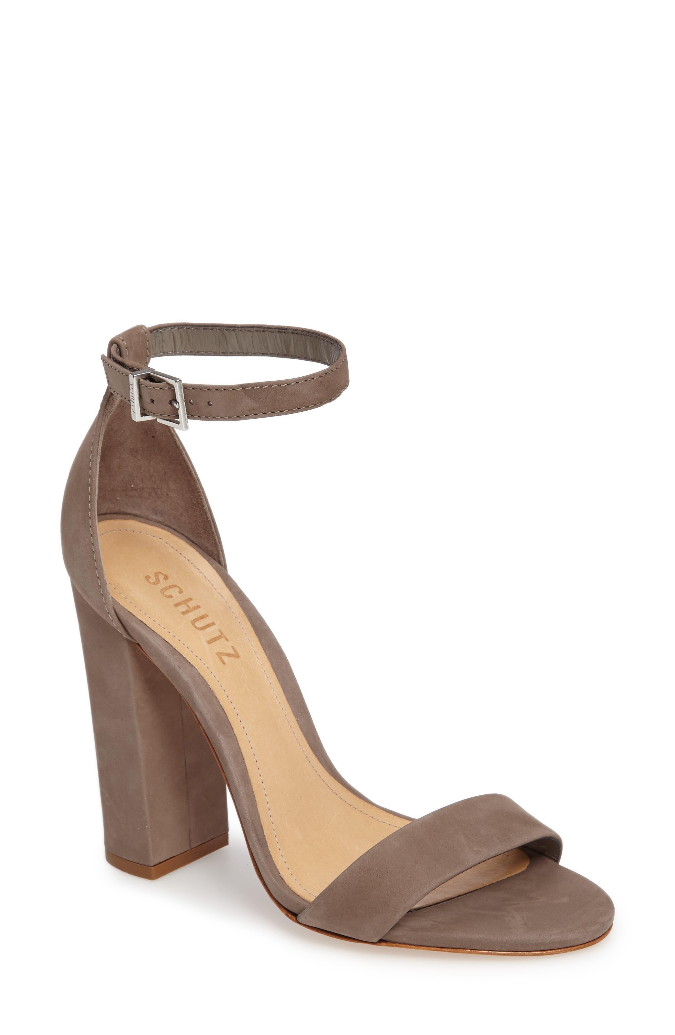 Enida Sandal,                         Main,                         color, Mouse Nubuck Leather
