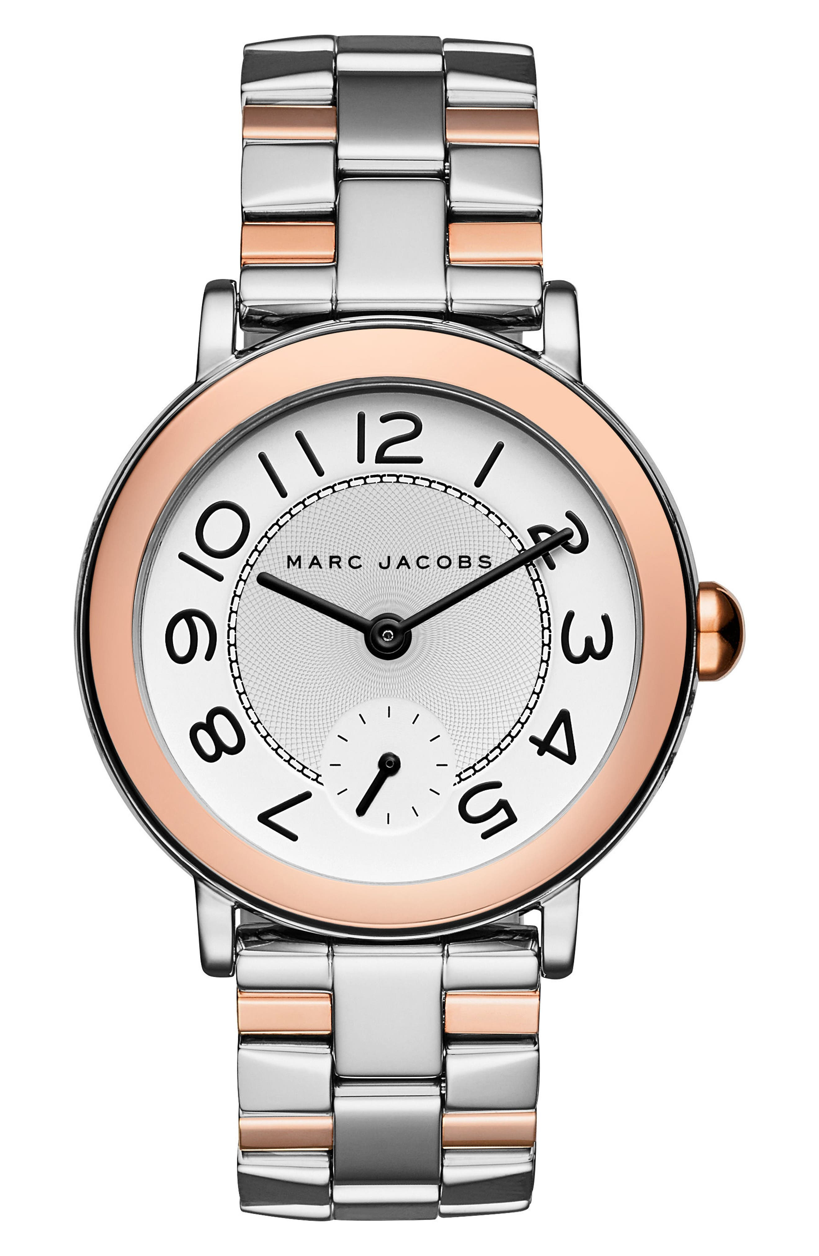 Riley Bracelet Watch, 36mm,                             Main thumbnail 1, color,                             Silver/ Rose Gold