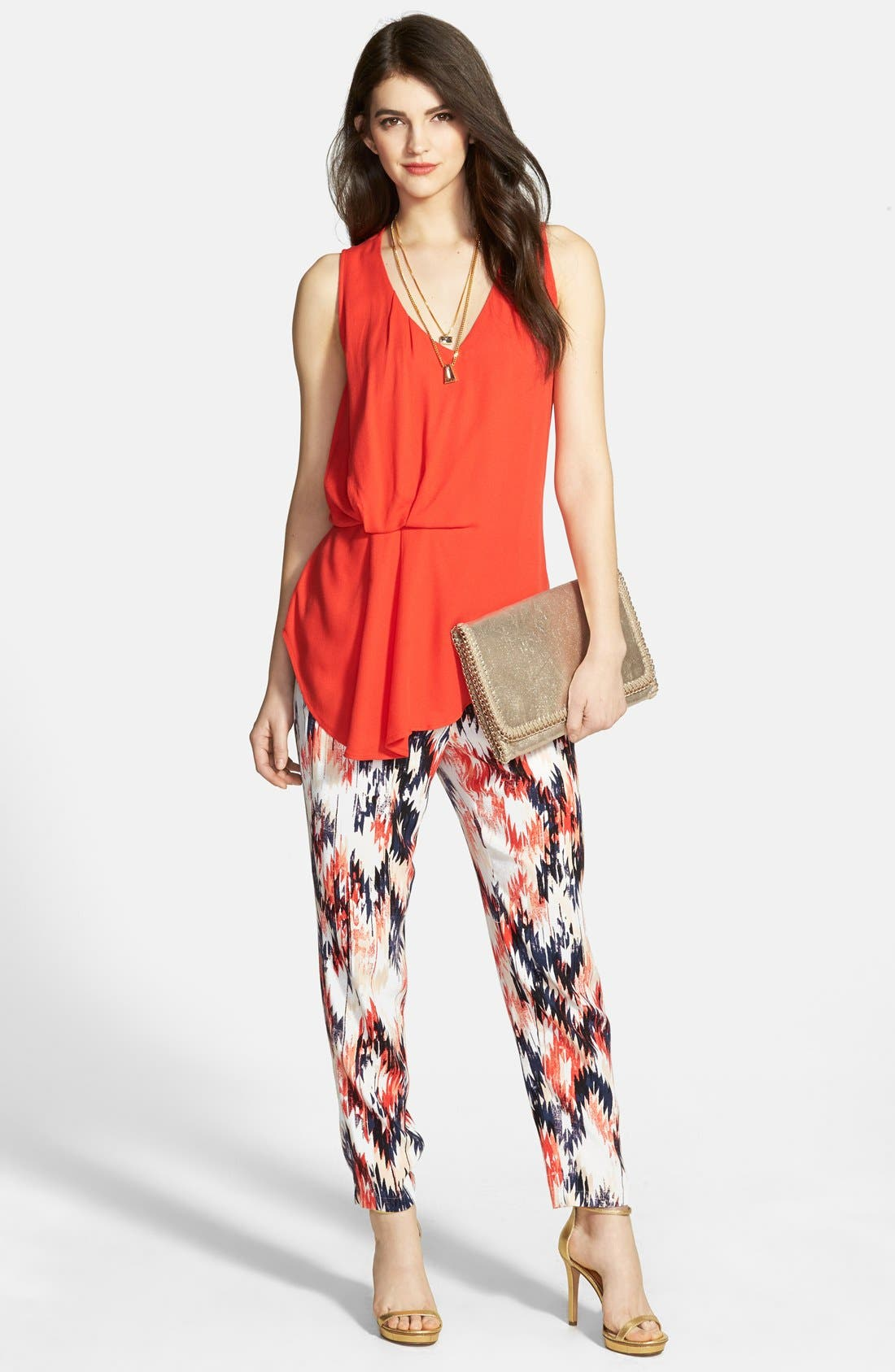Alternate Image 4  - Ella Moss 'Zia' Print Pants