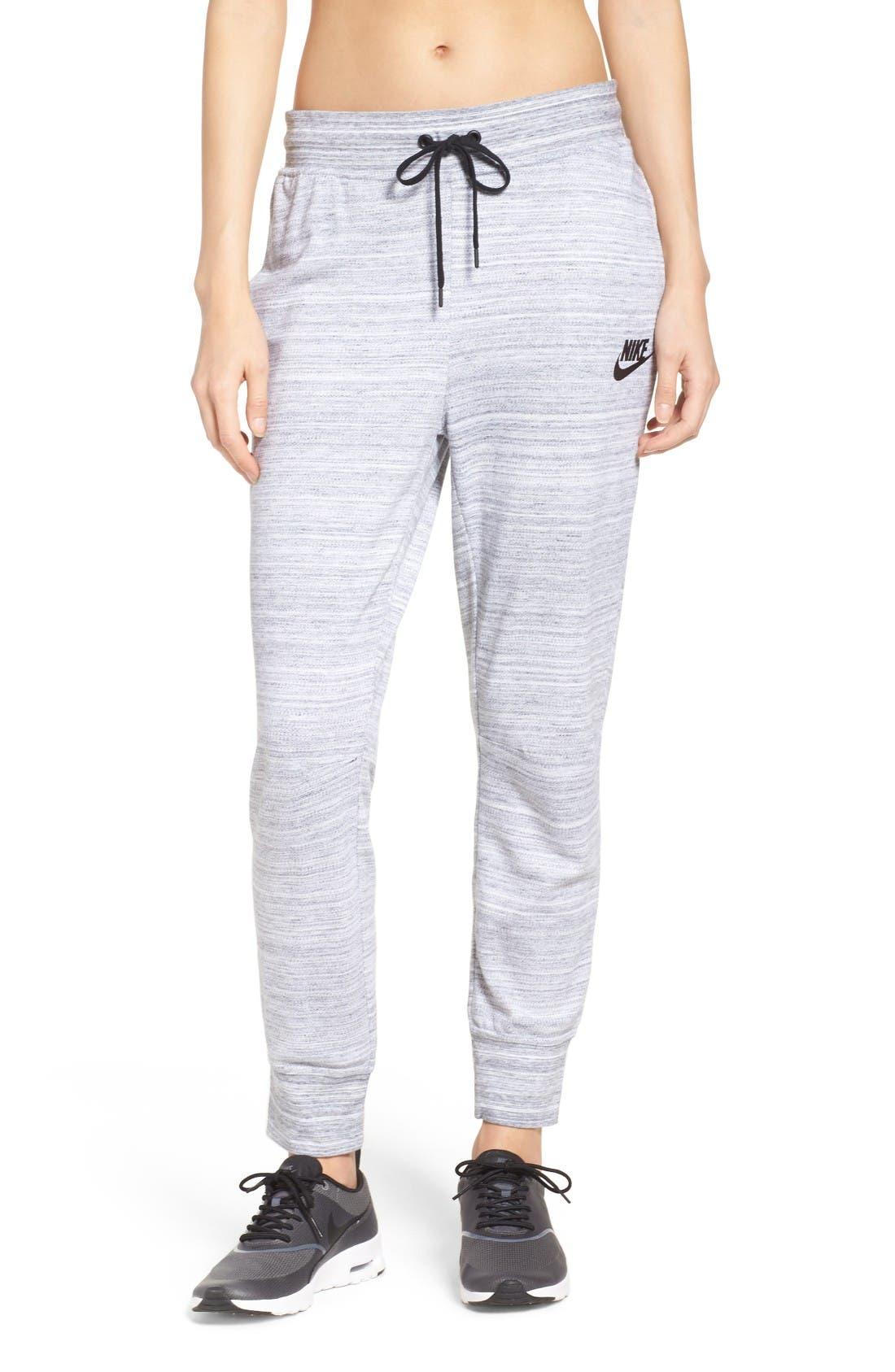 AV15 Jogger Pants,                         Main,                         color, White/ Black