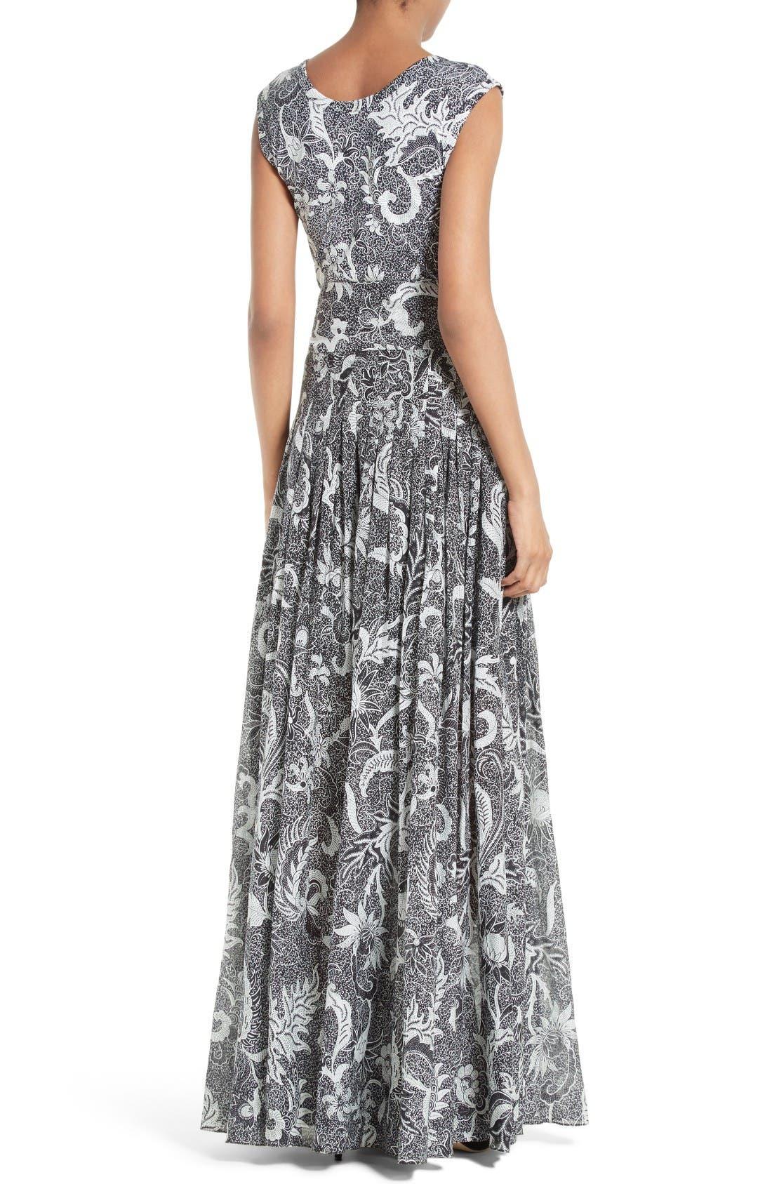 Alternate Image 2  - Diane von Furstenberg Cotton & Silk Maxi Dress