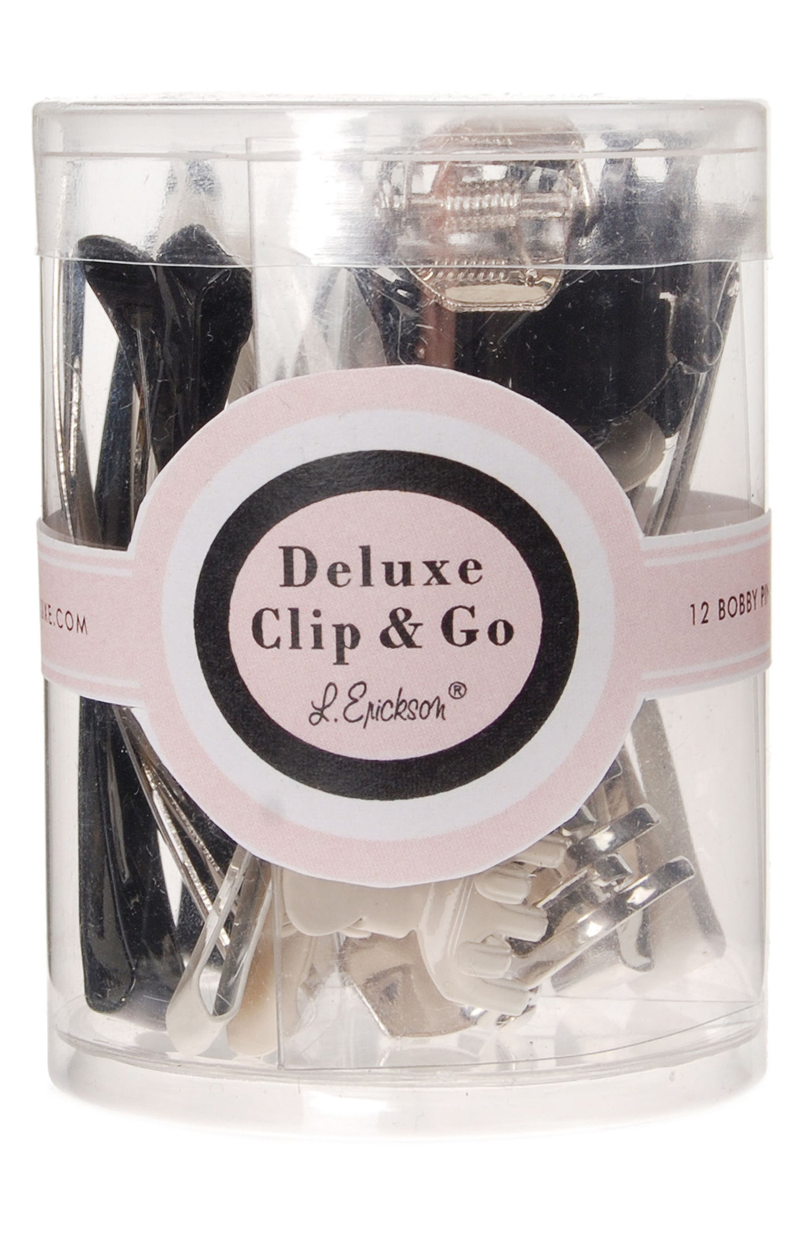 Deluxe Clip & Go Kit,                             Main thumbnail 1, color,                             Silver/ Gunmetal/ Black/ Ivory