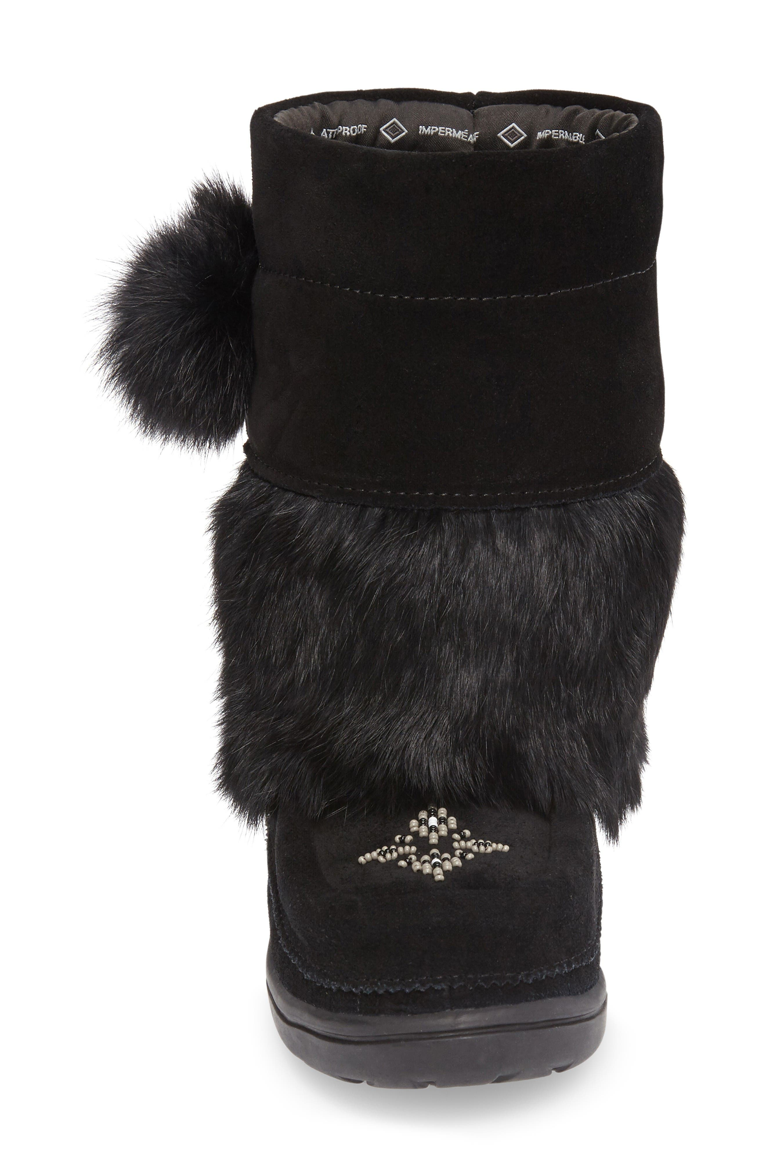 Alternate Image 3  - Manitobah Mukluks Snowy Owlet Genuine Fur Waterproof Boot (Walker, Toddler & Little Kid)
