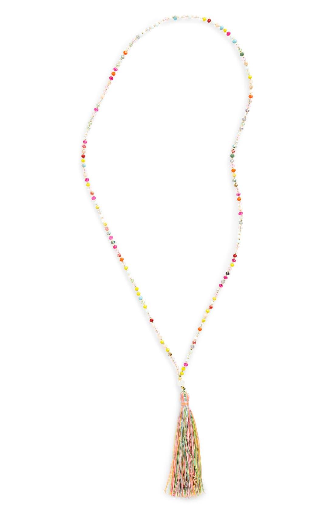 Main Image - Panacea Beaded Tassel Necklace