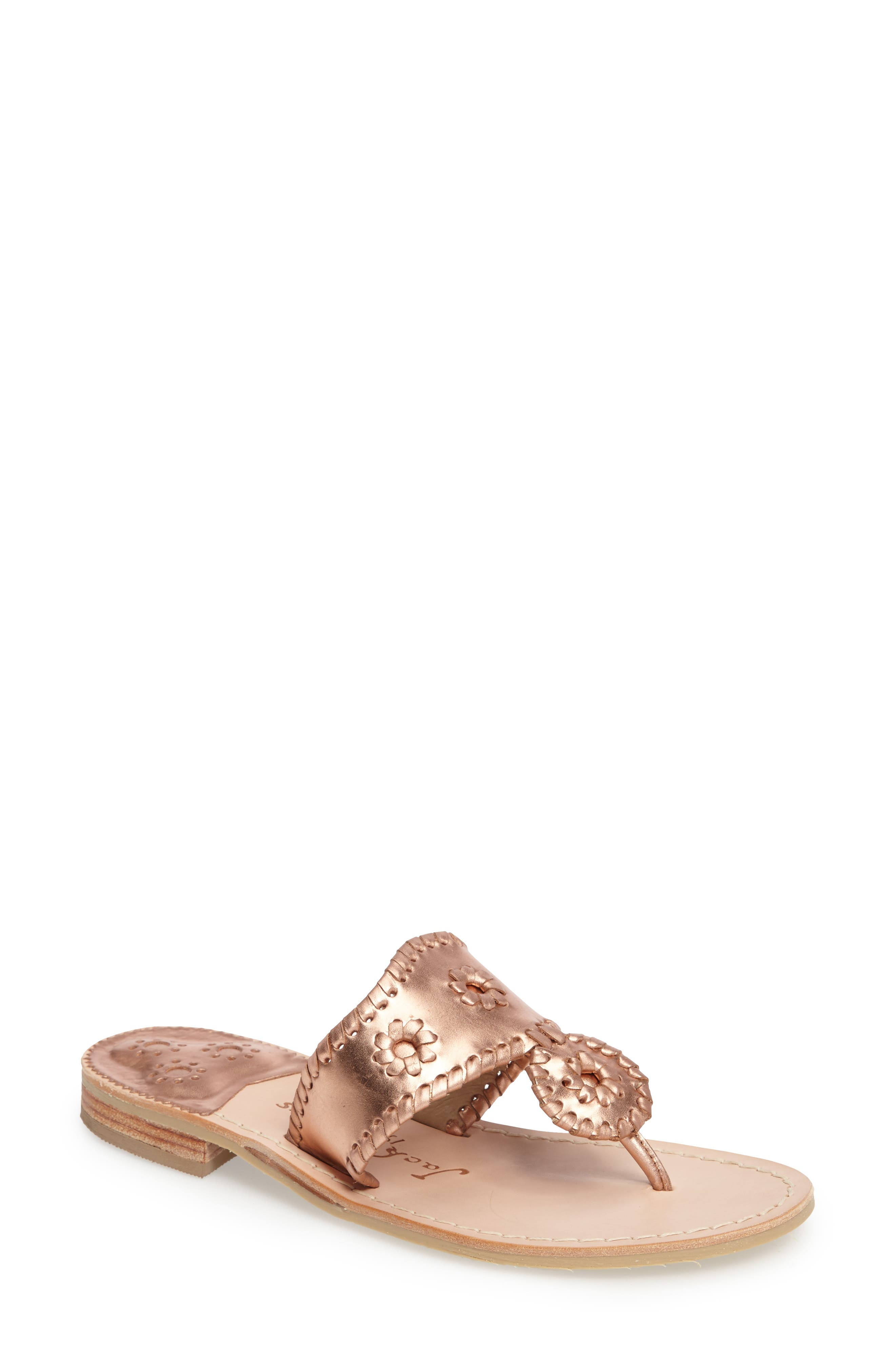Alternate Image 1 Selected - Jack Rogers Hamptons Metallic Flip Flop (Women)