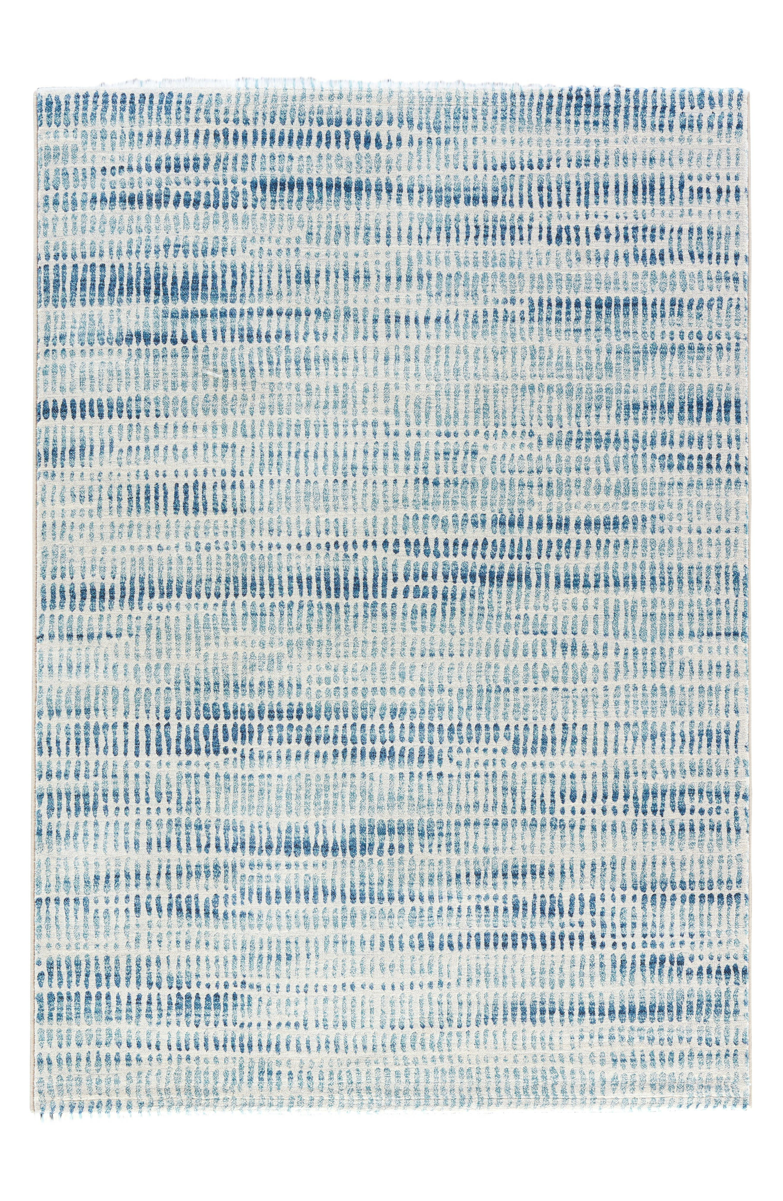 Blurred Water Rug,                         Main,                         color, White/ Blue