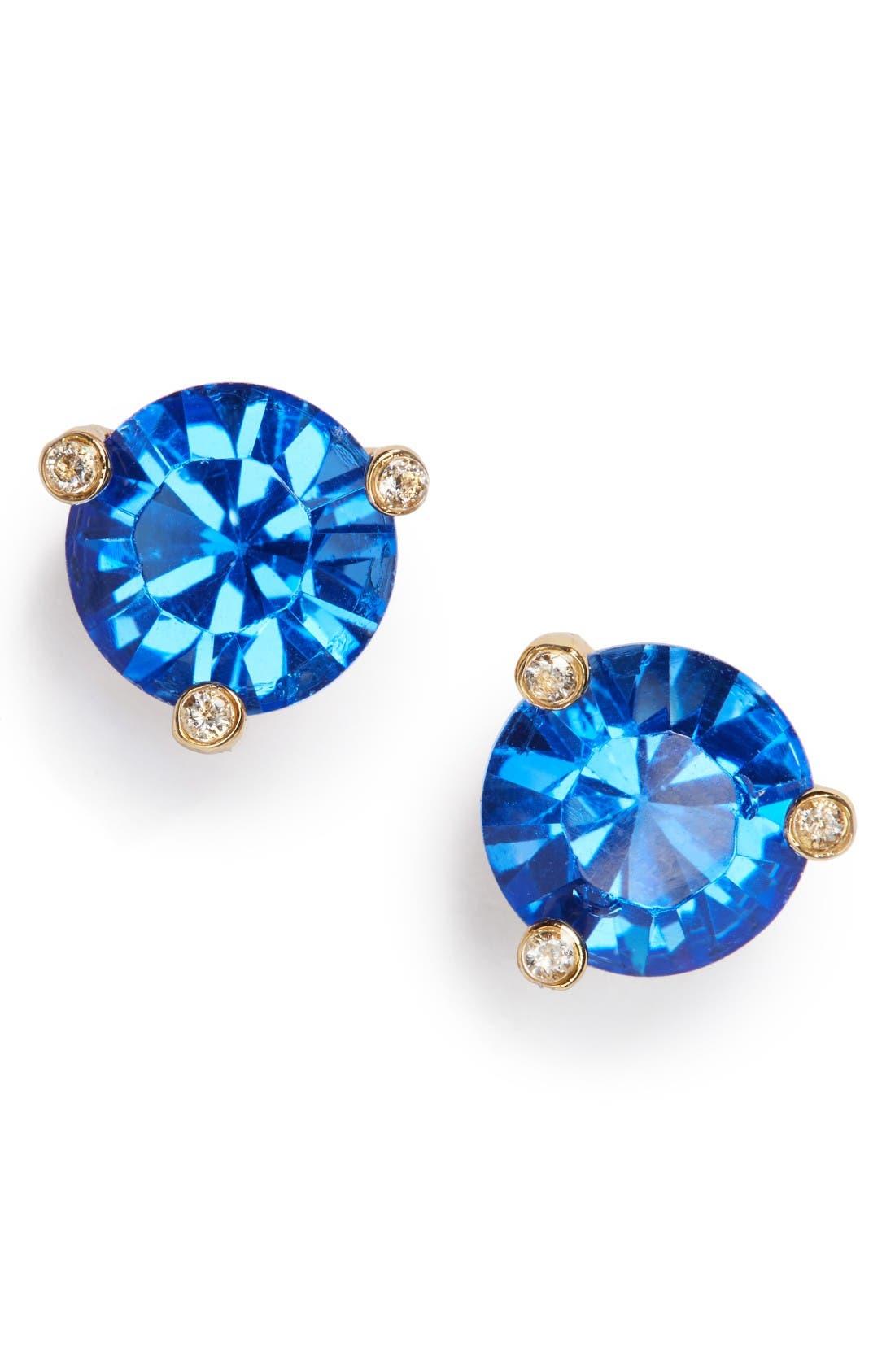 'rise & shine' stud earrings,                         Main,                         color, Sapphire