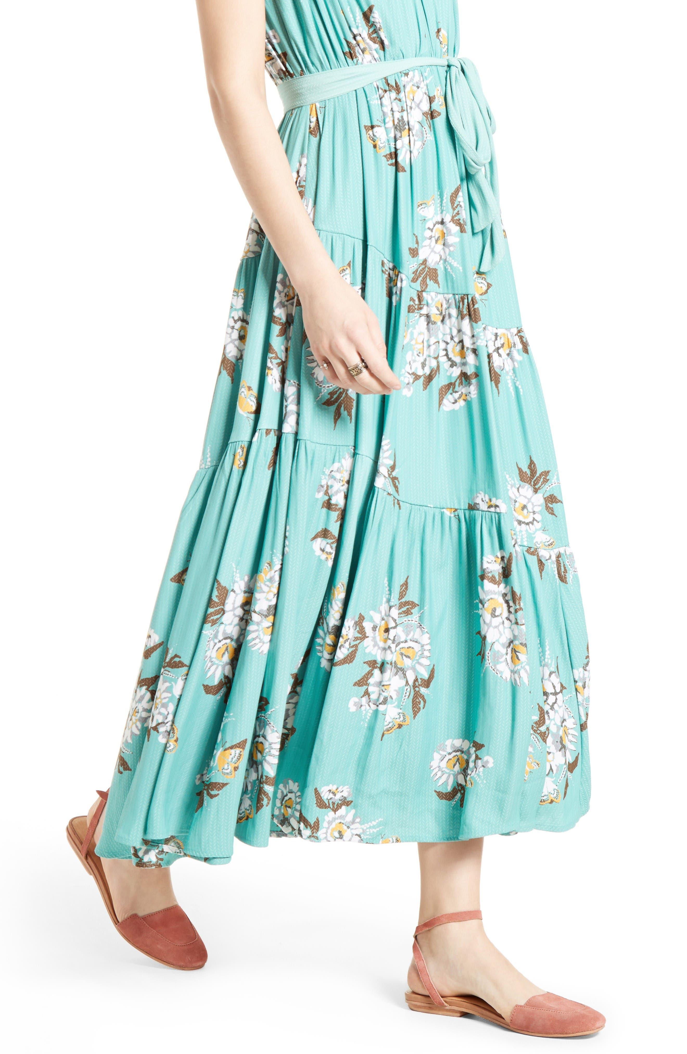 All I Got Maxi Dress,                             Alternate thumbnail 4, color,                             Botanic Combo