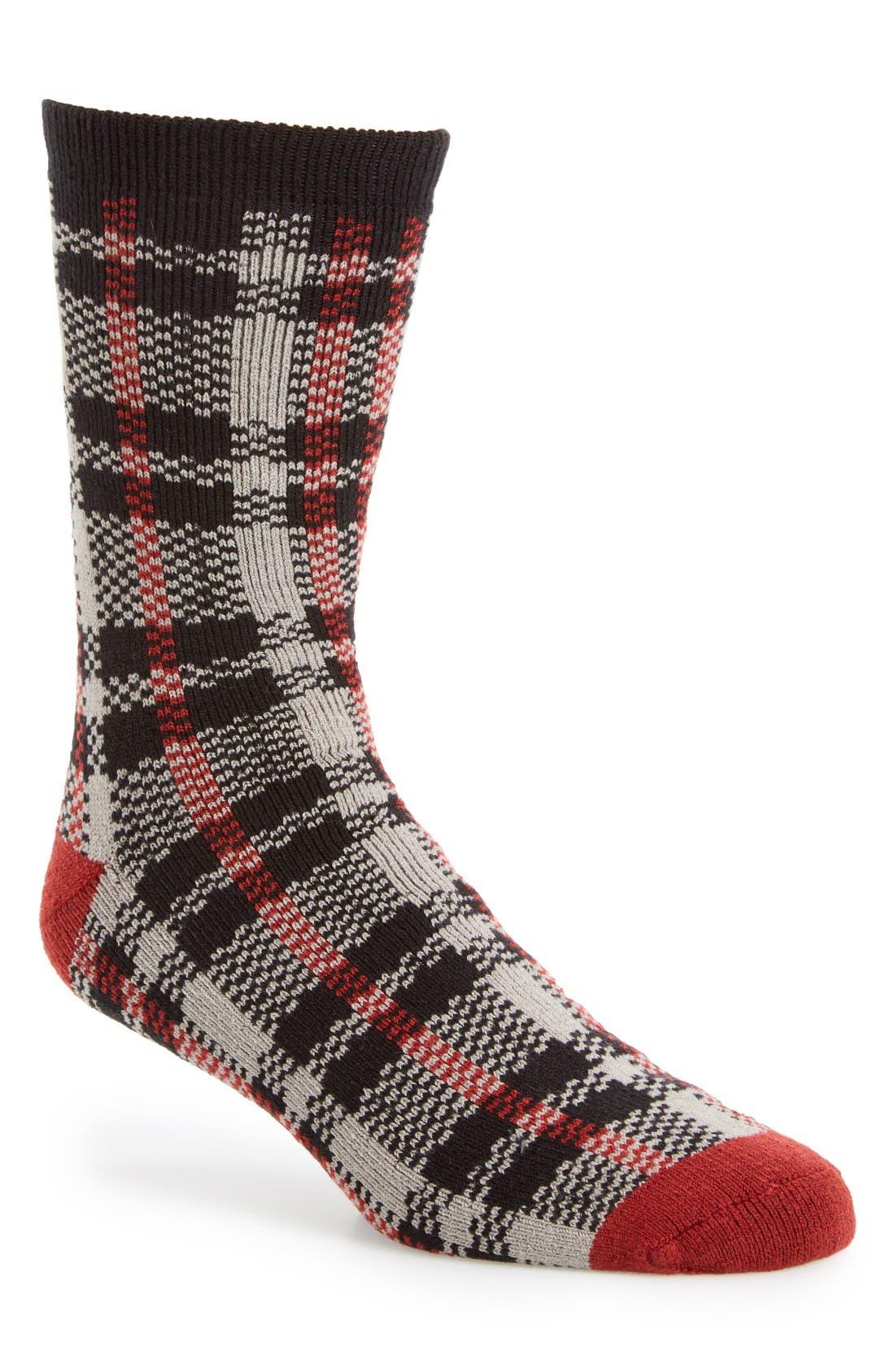 Plaid Socks,                             Main thumbnail 1, color,                             Seal Plaid