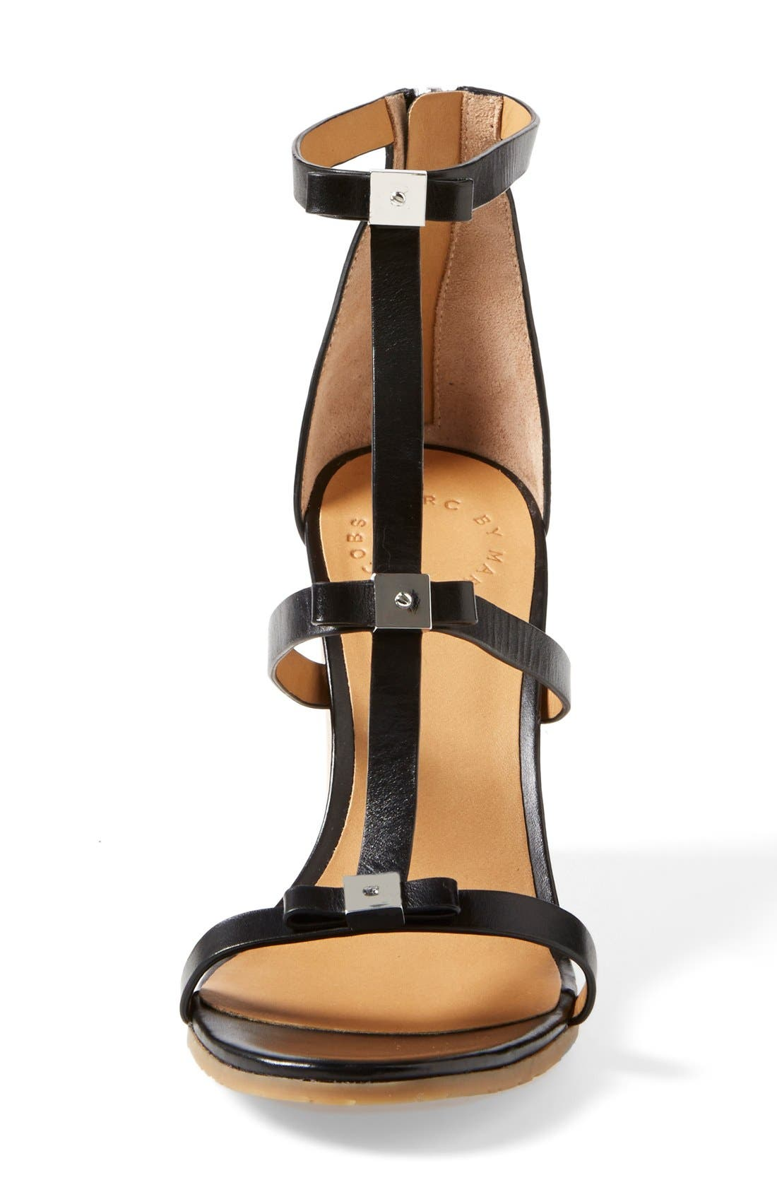 Alternate Image 3  - MARC BY MARC JACOBS Cube Bow Leather Wedge Sandal (Women)