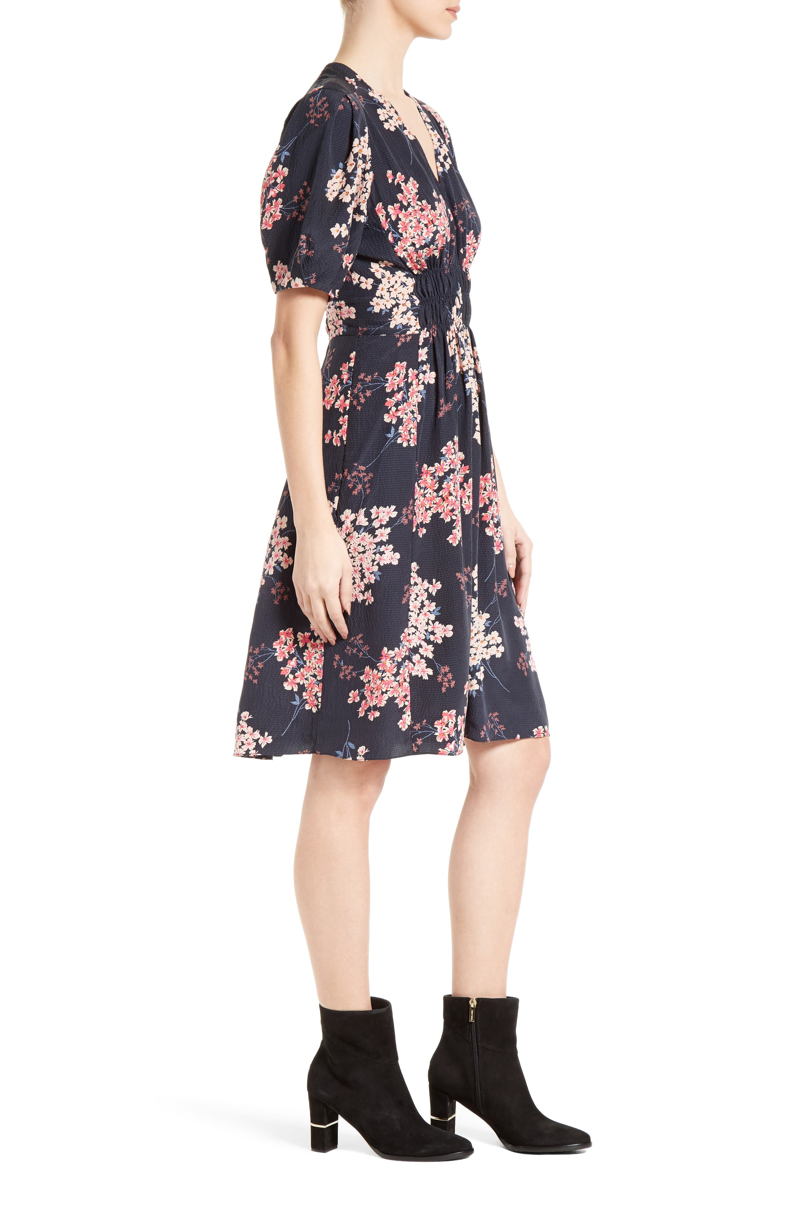 Alternate Image 3  - Rebecca Taylor Phlox Silk Midi Dress