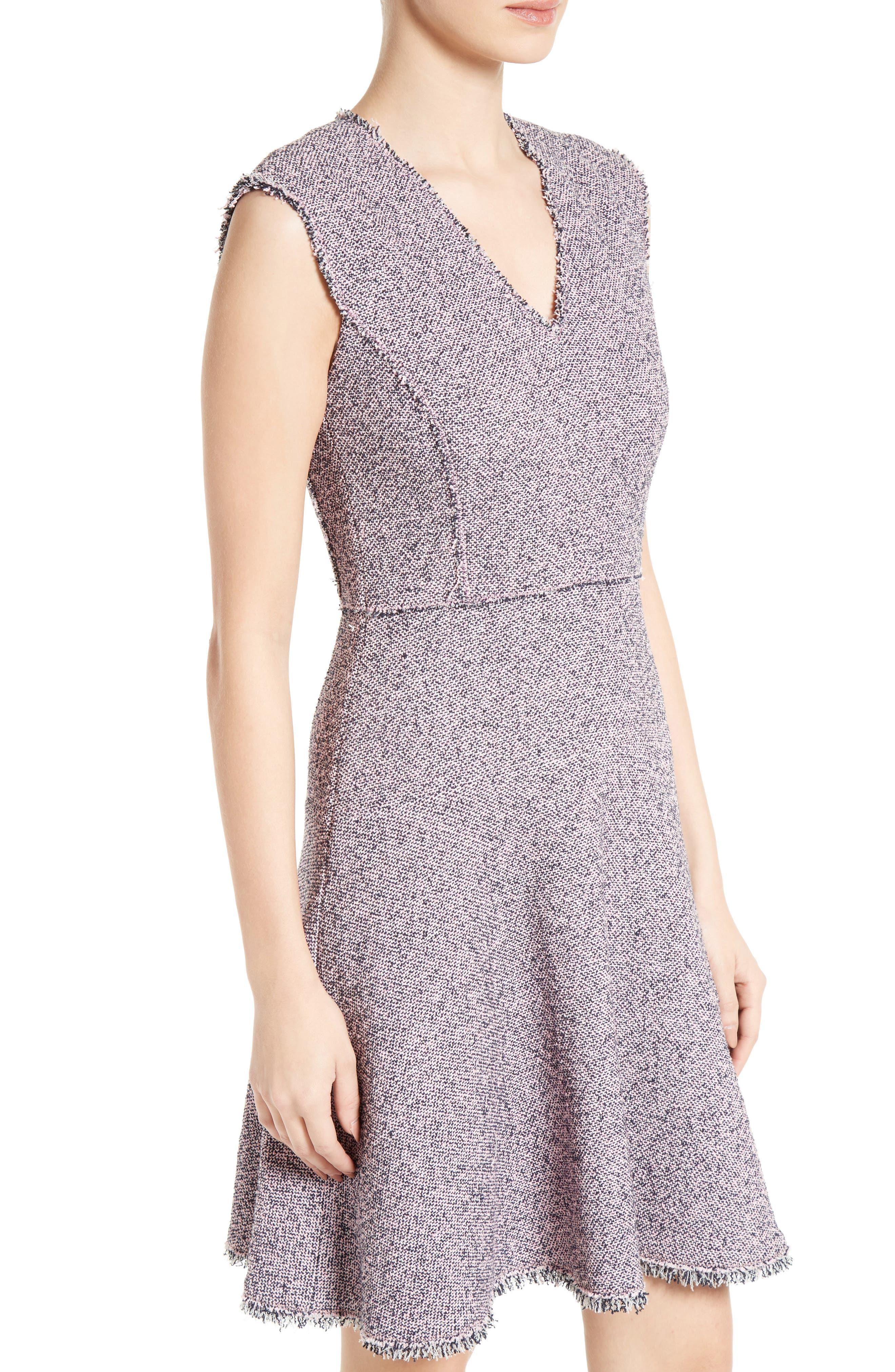 Alternate Image 5  - Rebecca Taylor Stretch Tweed Fit & Flare Dress