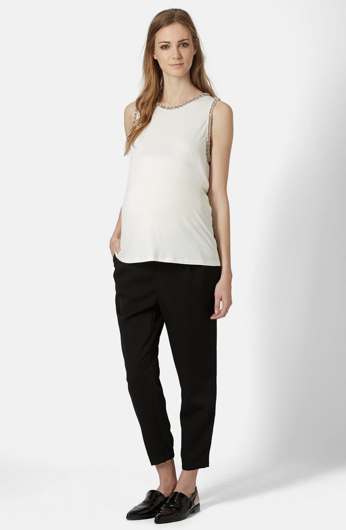 Alternate Image 3  - Topshop Gem Embellished Maternity Tank Top