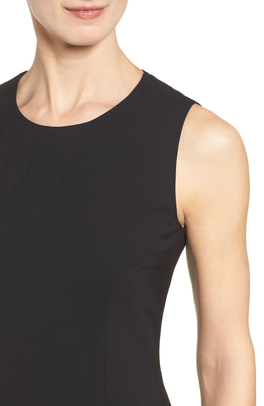 Alternate Image 4  - BOSS Dirusa Sleeveless Stretch Wool Sheath Dress