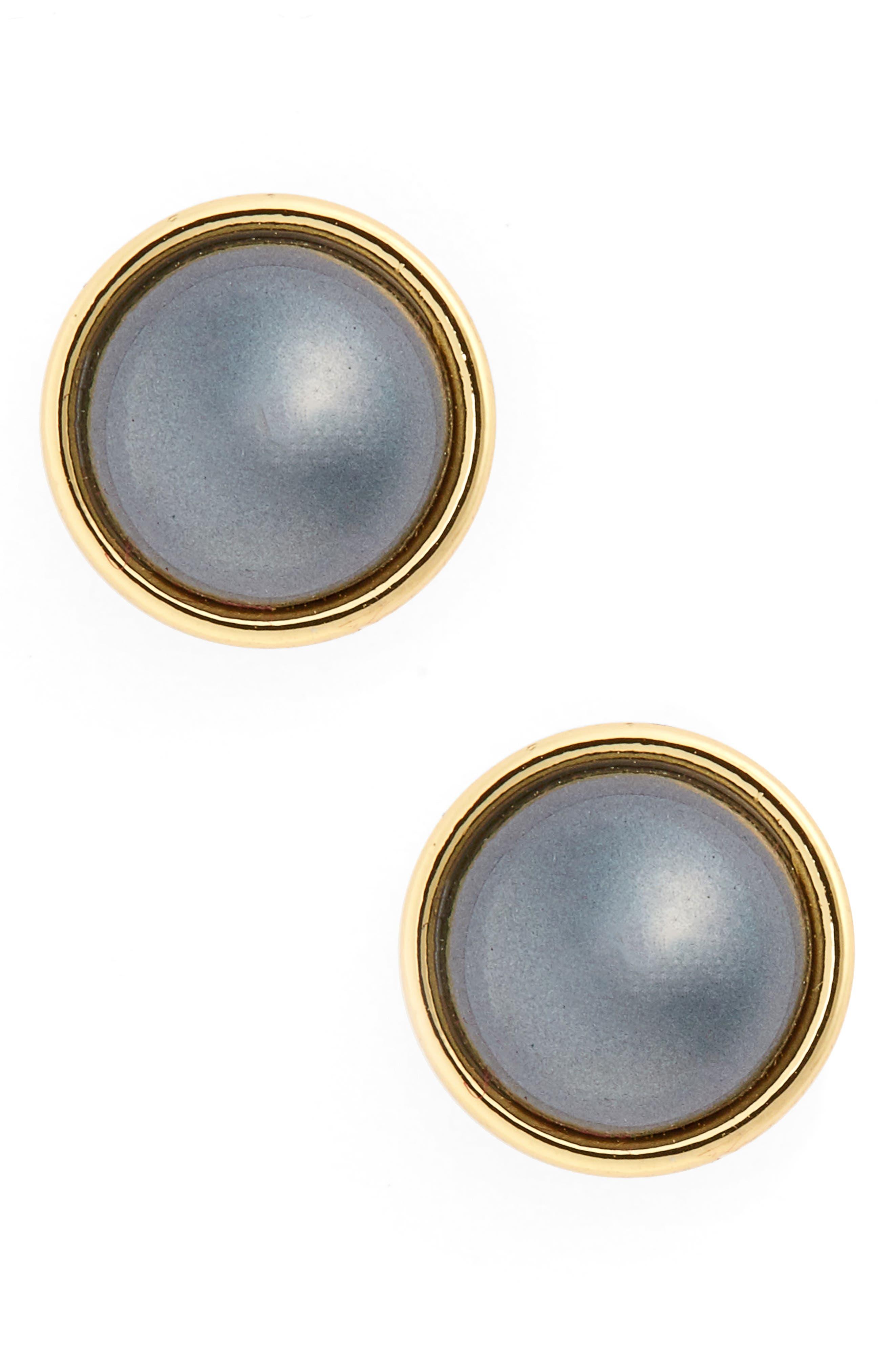 kate spade new york imitation pearl stud earrings