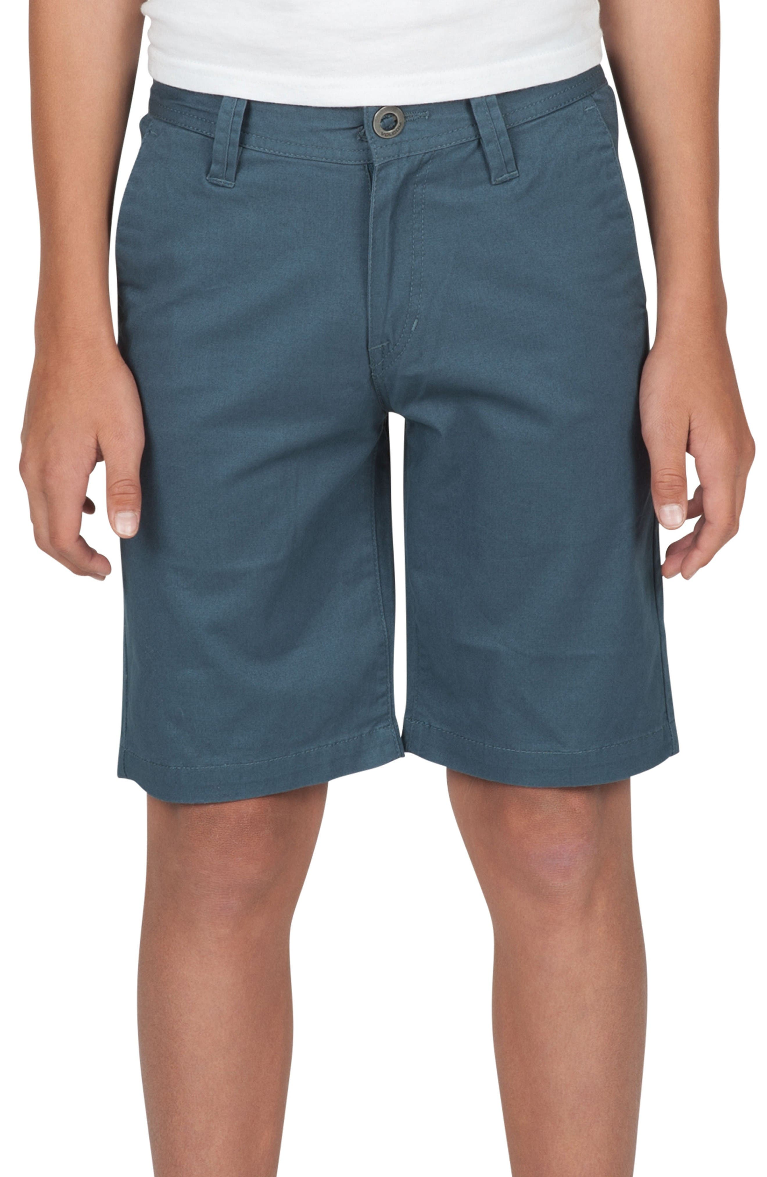 Alternate Image 1 Selected - Volcom Cotton Twill Shorts (Toddler Boys, Little Boys & Big Boys)