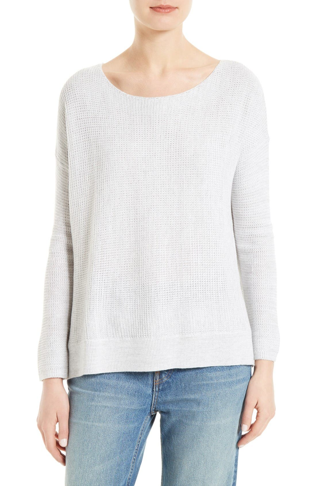 Soft Joie Kashani Pullover,                         Main,                         color, Porcelain/ Heather Grey
