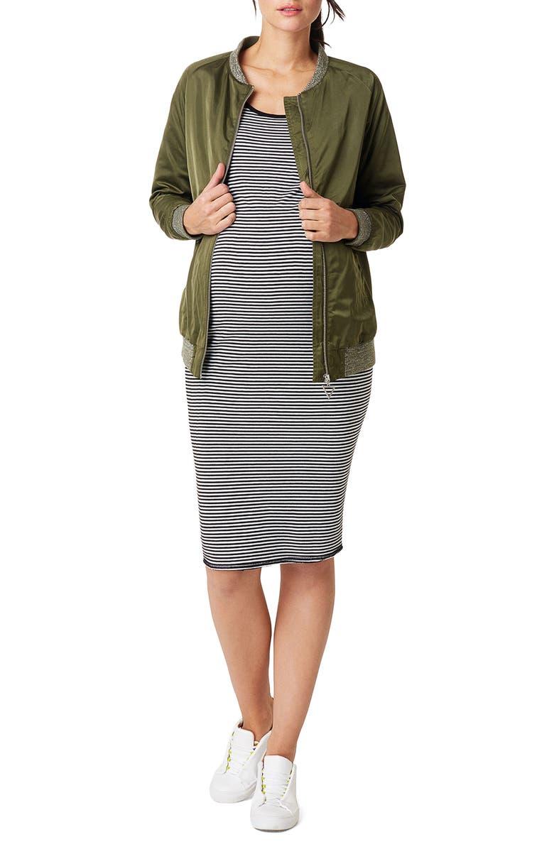 Nora Stripe Maternity Tank Dress