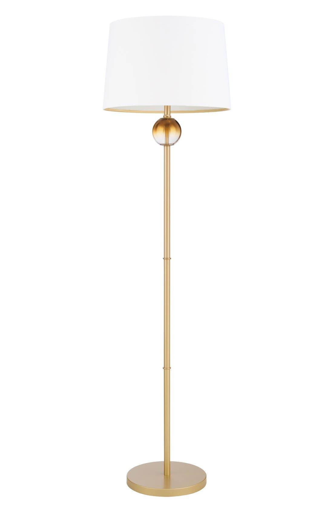 Ombré Ball Floor Lamp,                             Main thumbnail 1, color,                             Metallic Gold