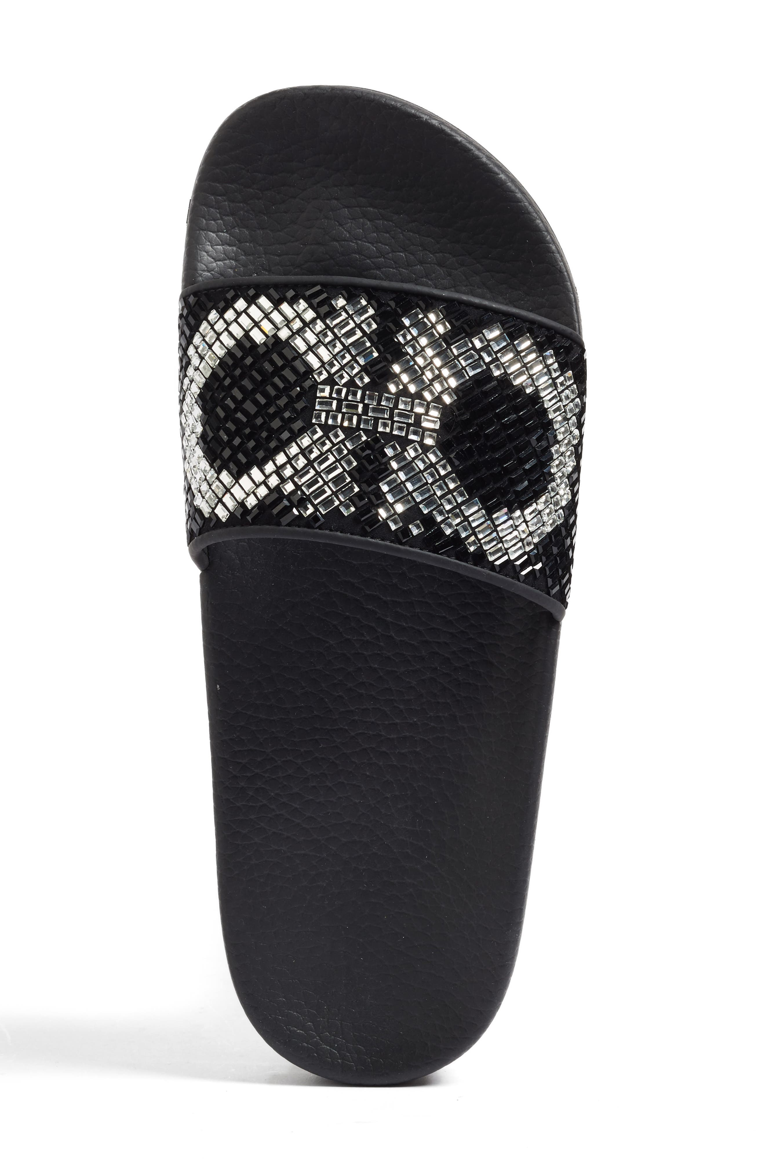 Alternate Image 3  - Salvatore Ferragamo Crystal Logo Slide Sandal (Women)
