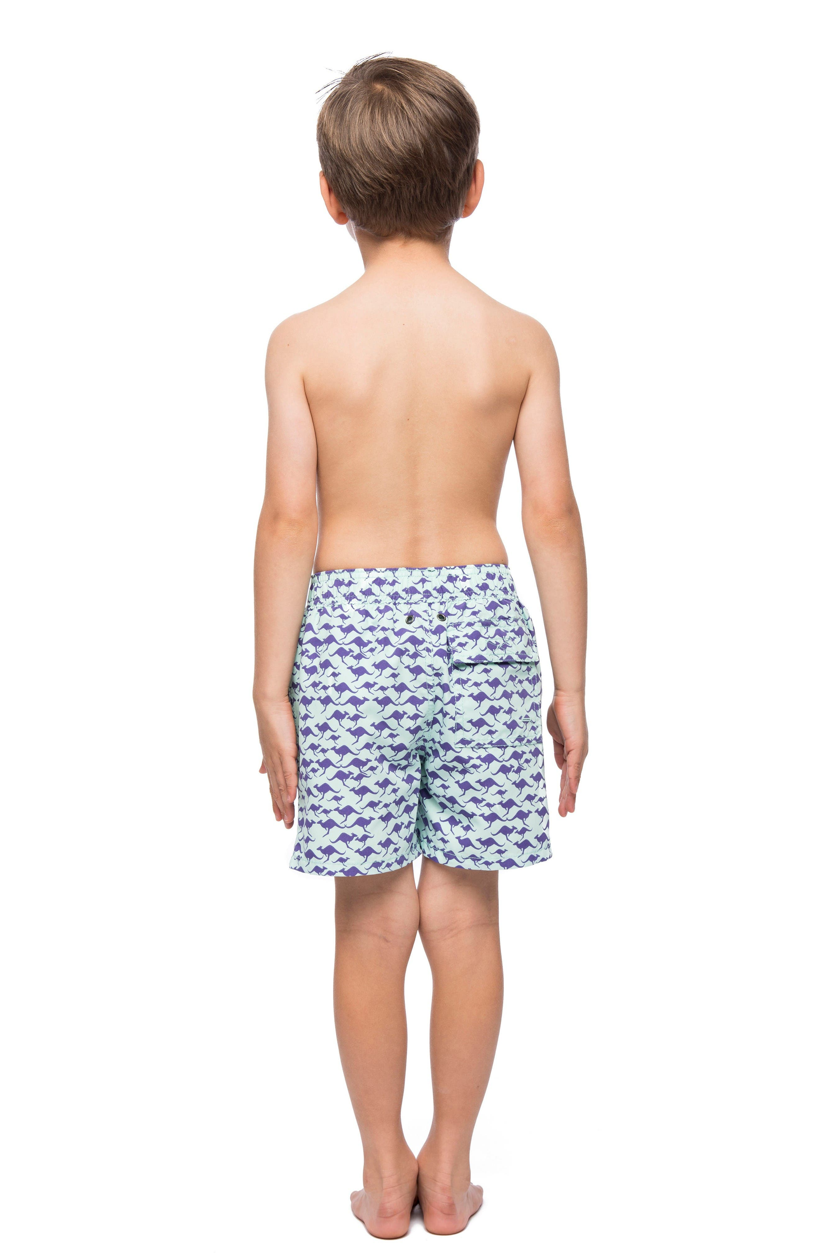 Alternate Image 2  - Tom & Teddy Kangaroo Swim Trunks (Toddler Boys, Little Boys & Big Boys)