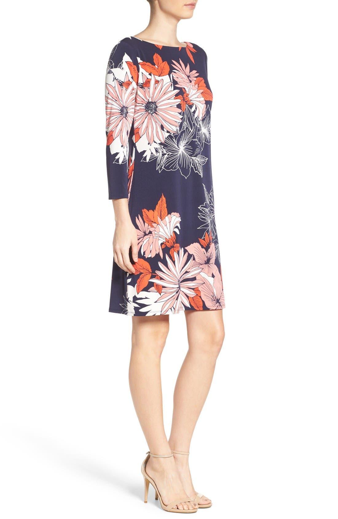 Alternate Image 3  - Vince Camuto Crepe Shift A-Line Dress (Regular & Petite)