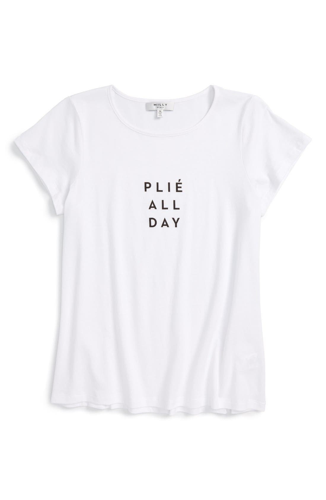 Milly Minis Plié All Day Graphic Tee (Toddler Girls, Little Girls & Big Girls)