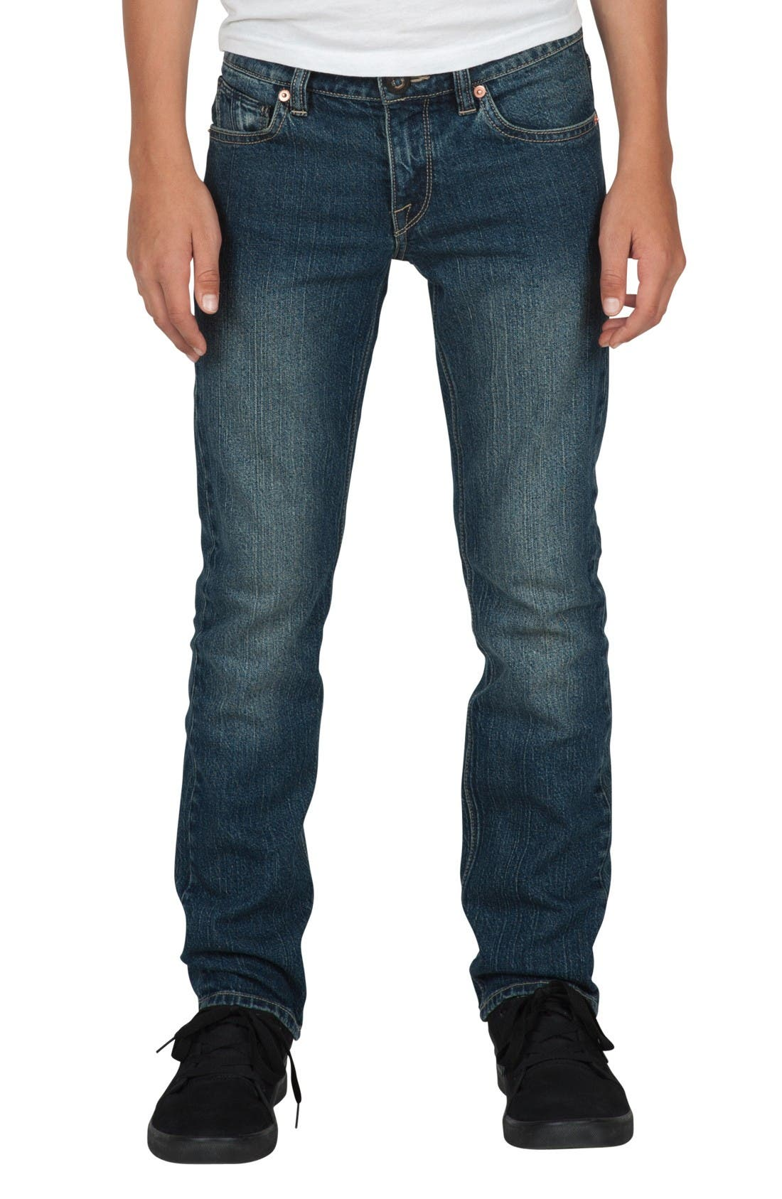 Alternate Image 1 Selected - Volcom 'Vorta' Slim Fit Jeans (Toddler Boys & Little Boys)
