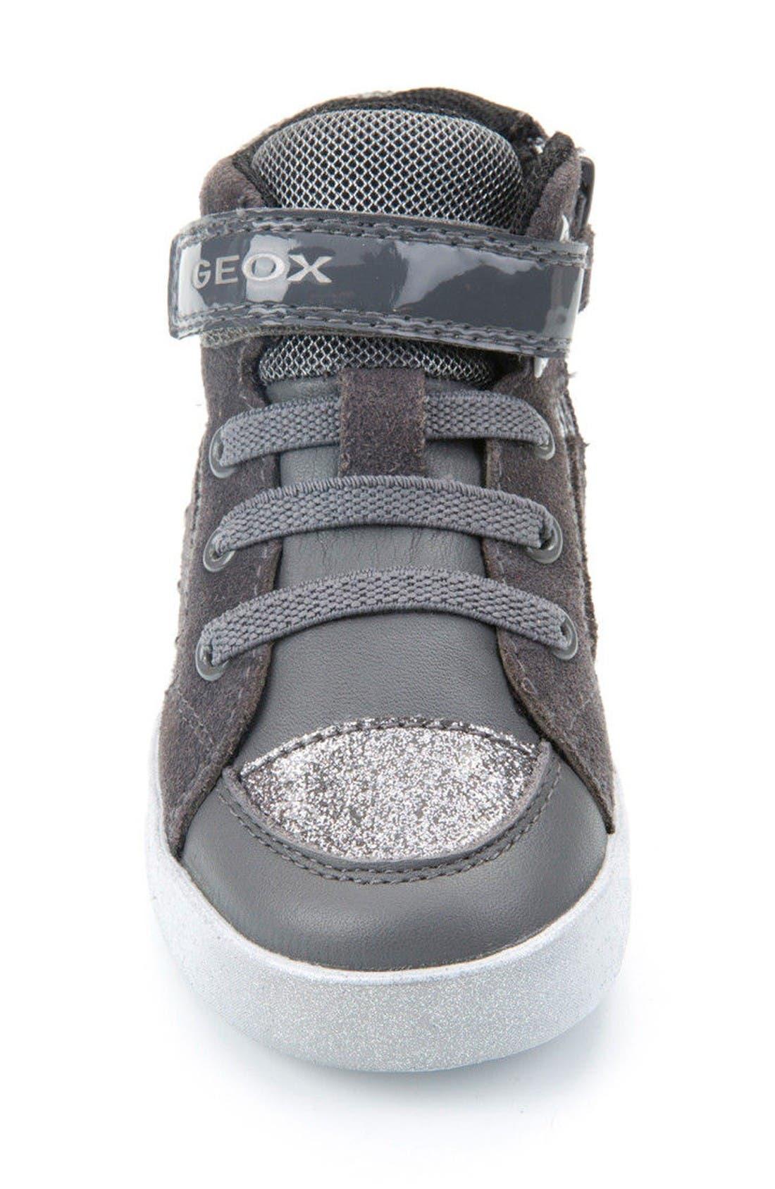 Kiwi Studded High Top Sneaker,                             Alternate thumbnail 3, color,                             Dark Grey