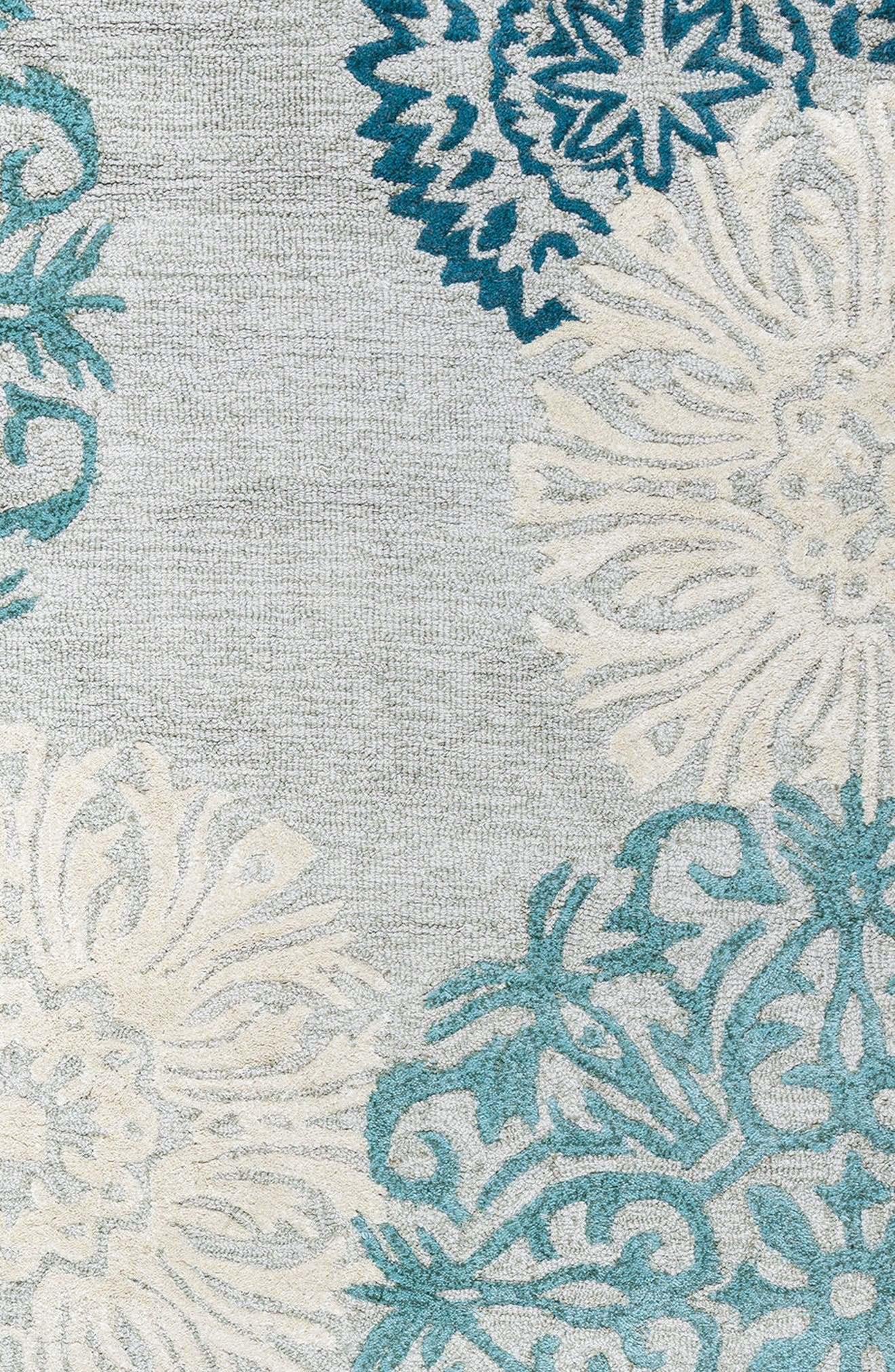 'Dimensional' Wool Area Rug,                             Alternate thumbnail 4, color,                             Light Blue/ Grey